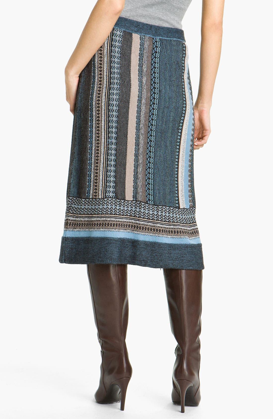 Alternate Image 2  - Nic + Zoe Stripe Knit Skirt
