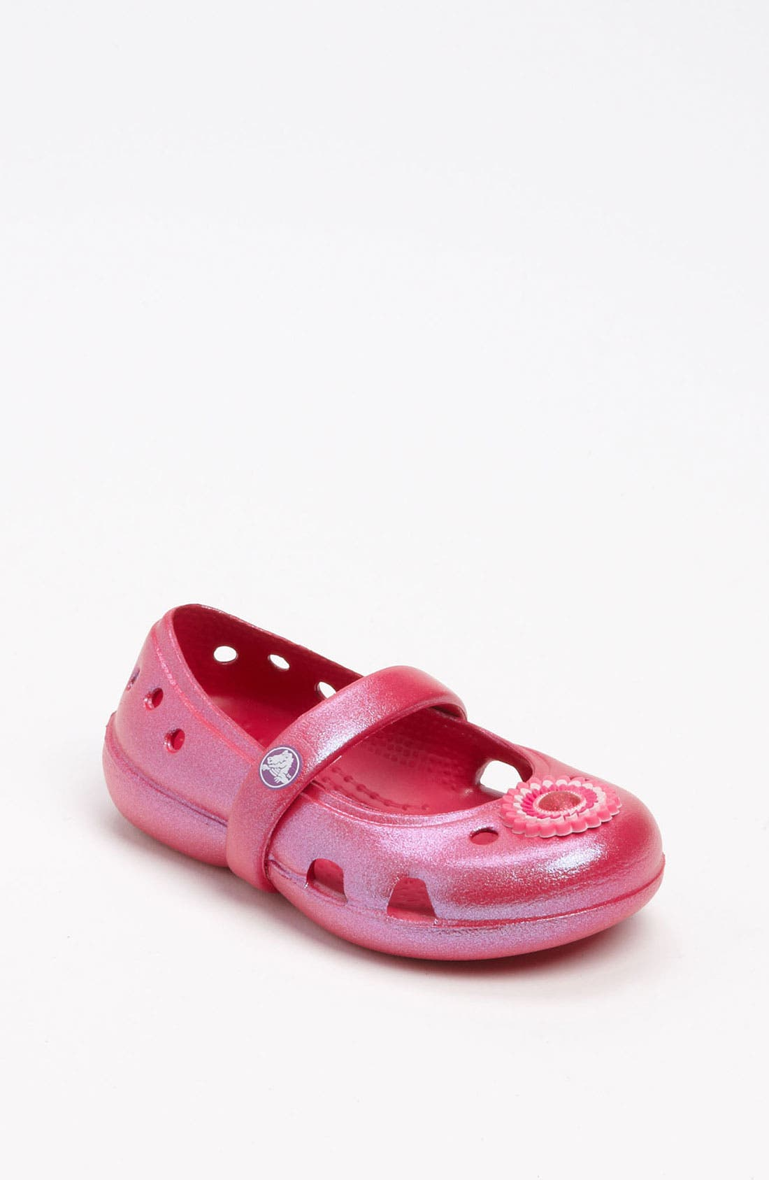 Main Image - CROCS™ 'Keeley Iridescent' Mary Jane (Walker, Toddler & Little Kid)