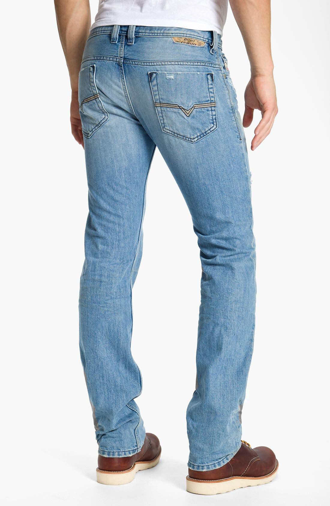 Alternate Image 1 Selected - DIESEL® 'Safado' Straight Leg Jeans (0802I)