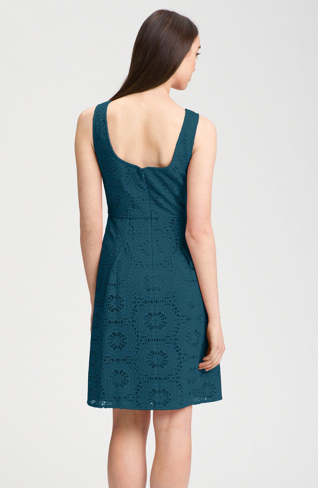 Alternate Image 2  - Adrianna Papell Crochet A-Line Dress