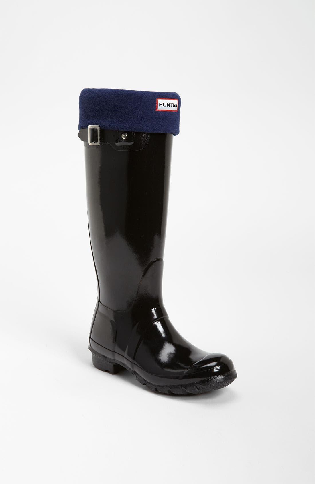 Main Image - Hunter Tall Gloss Rain Boot & Fleece Welly Socks