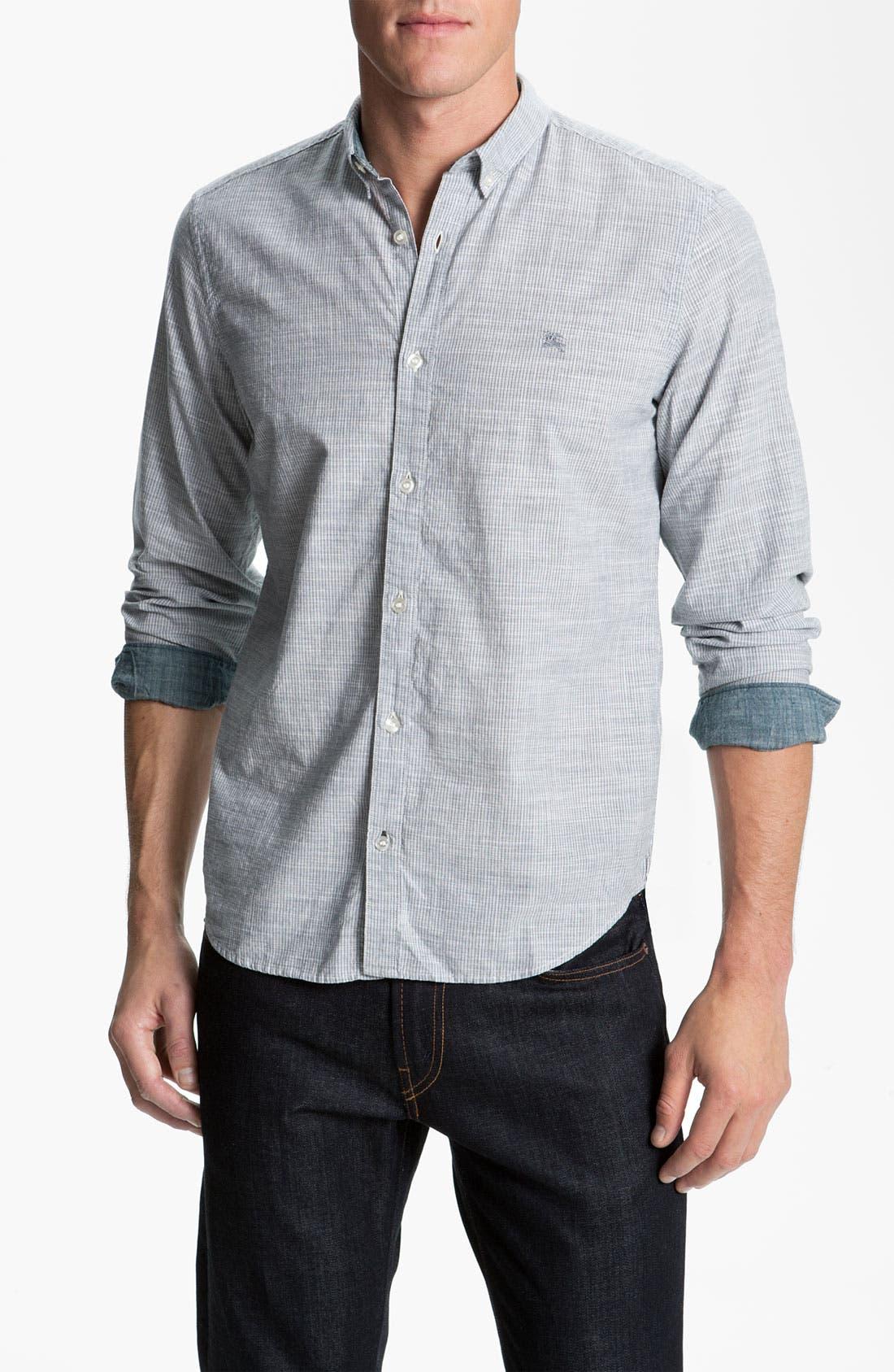 Main Image - Burberry Brit Trim Fit Sport Shirt