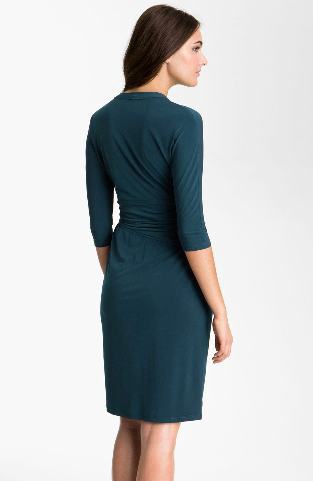 Alternate Image 2  - Suzi Chin for Maggy Boutique Elbow Sleeve Faux Wrap Dress