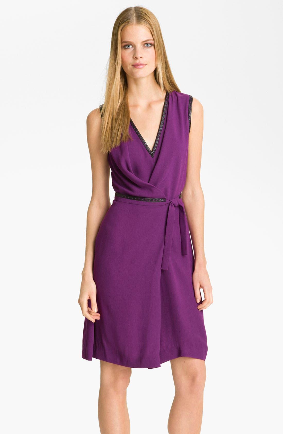Alternate Image 1 Selected - Rachel Roy Crepe Faux Wrap Dress (Online Exclusive)