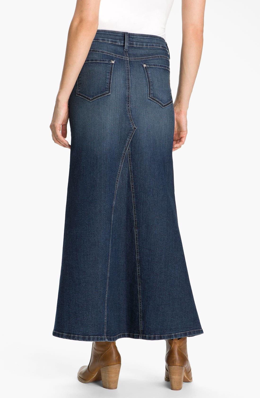 Alternate Image 2  - NYDJ 'Brooke' Denim Maxi Skirt