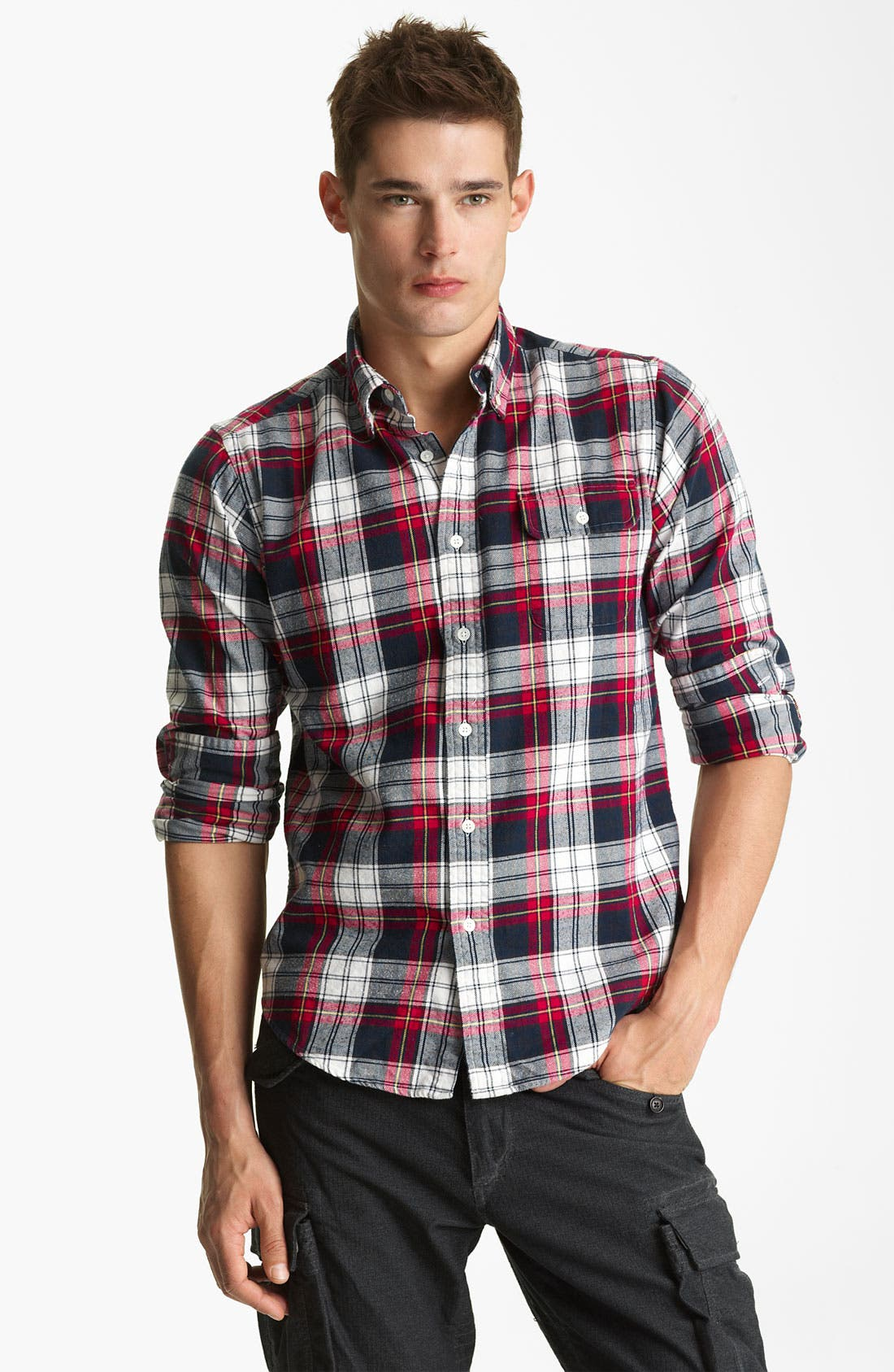 Alternate Image 1 Selected - Gant by Michael Bastian Cotton Flannel Shirt
