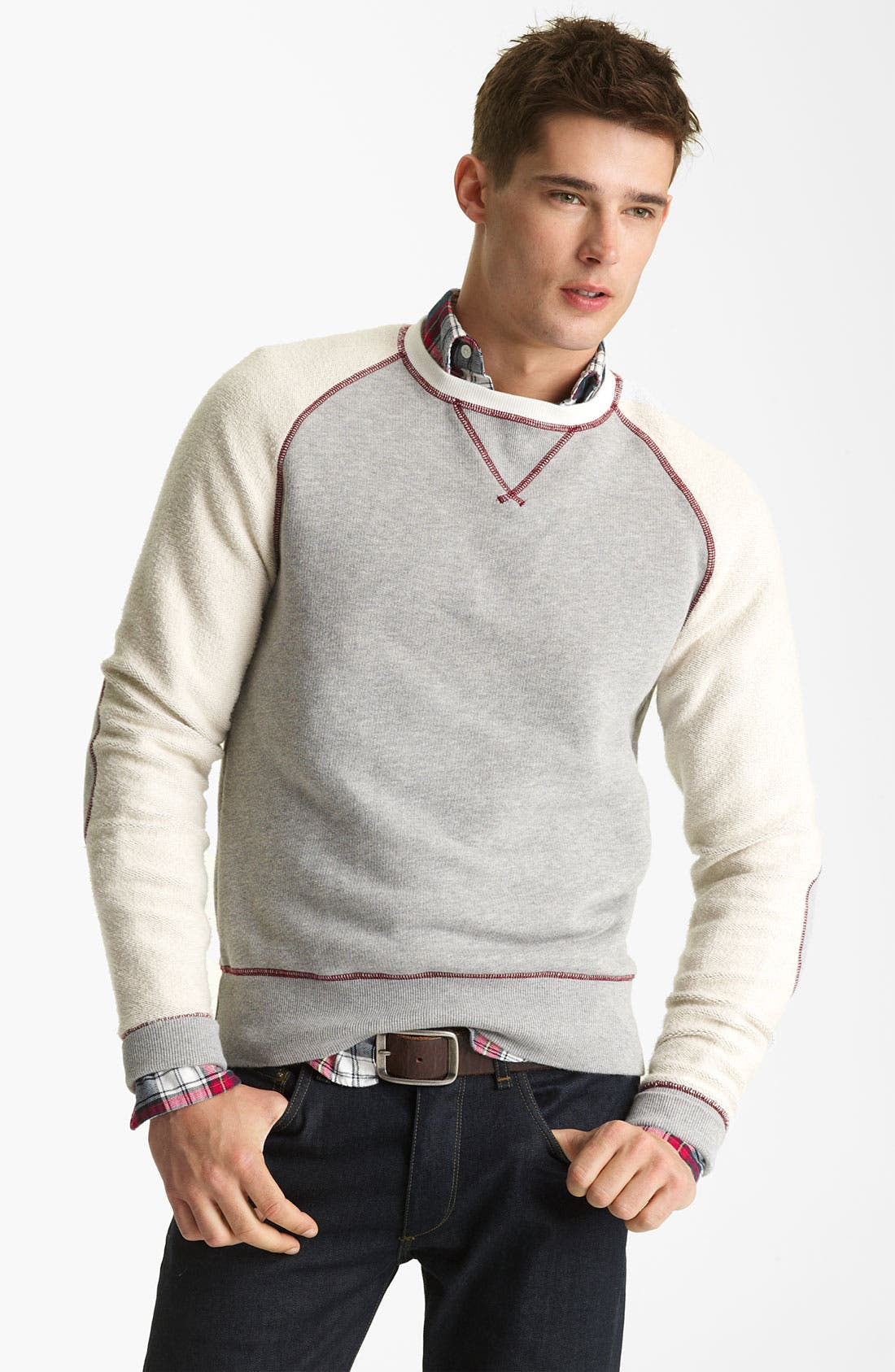 Alternate Image 1 Selected - Gant by Michael Bastian Knit Crewneck Sweatshirt