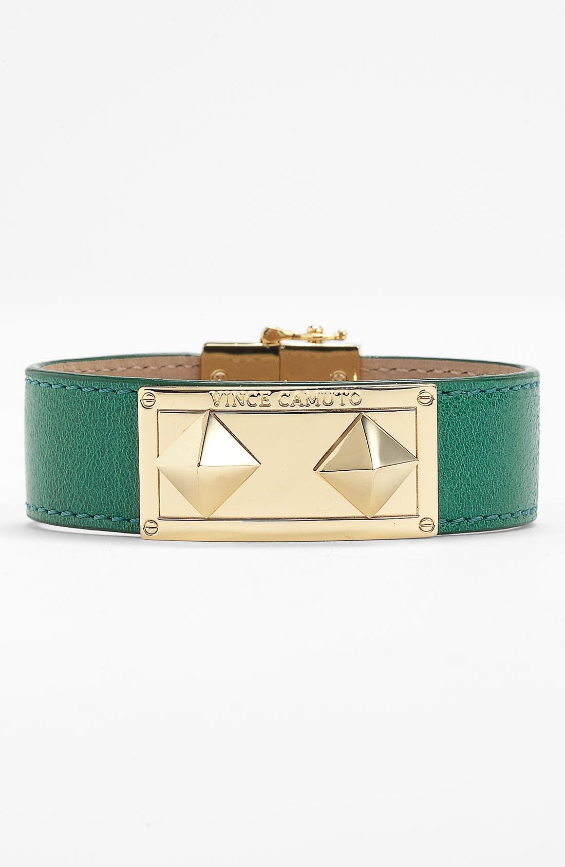 Alternate Image 1 Selected - Vince Camuto Studded Leather Wrap Bracelet
