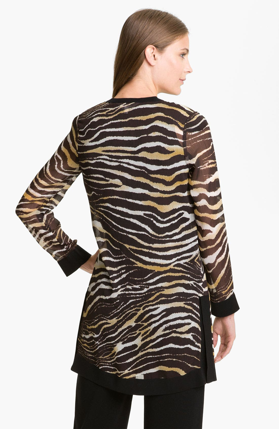 Alternate Image 2  - Exclusively Misook Zebra Print Duster