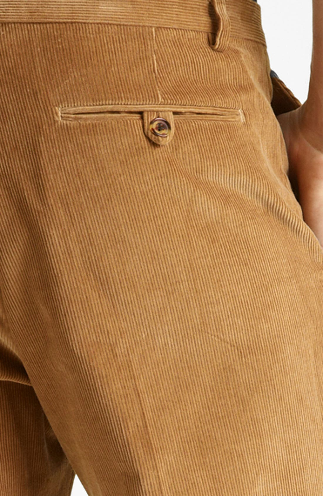 Alternate Image 3  - Shipley & Halmos 'Grand' Corduroy Suit Trousers