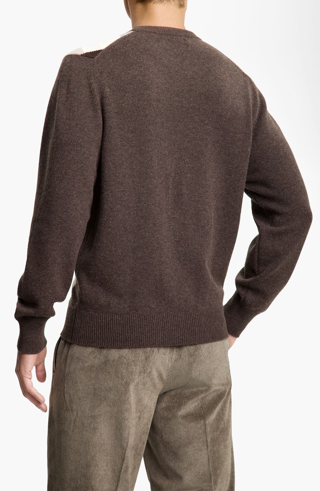 Alternate Image 2  - MacAlan Diamond Front Cashmere Sweater