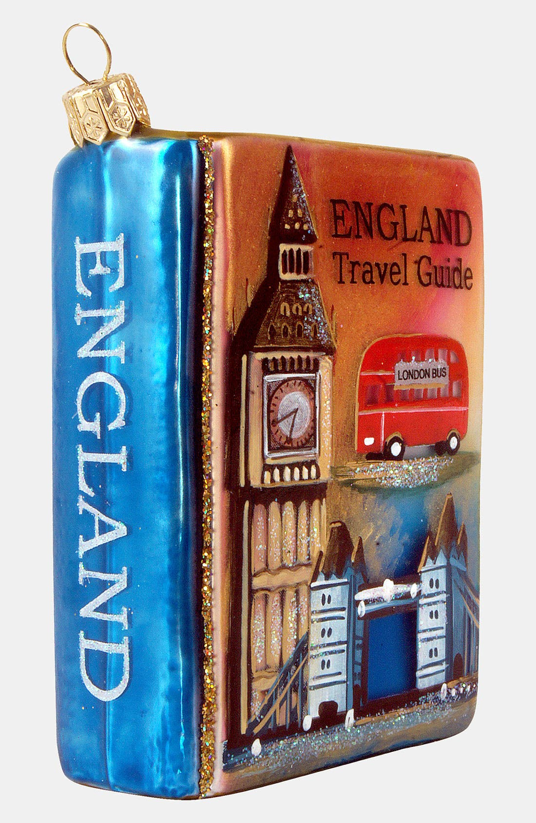 Alternate Image 2  - Nordstrom at Home 'England Travel Guide' Glass Ornament