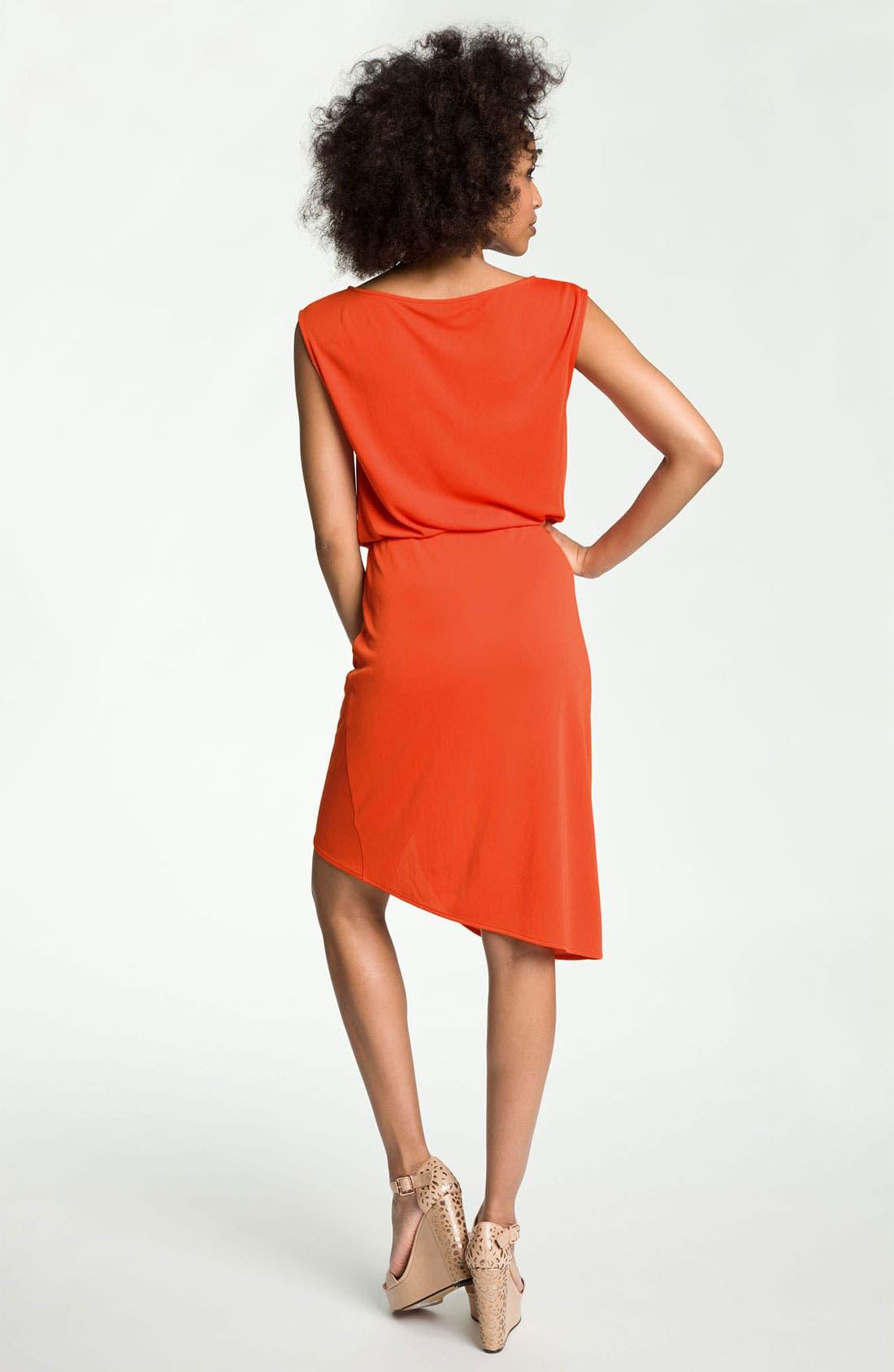 Alternate Image 2  - Trouvé Draped Faux Wrap Dress