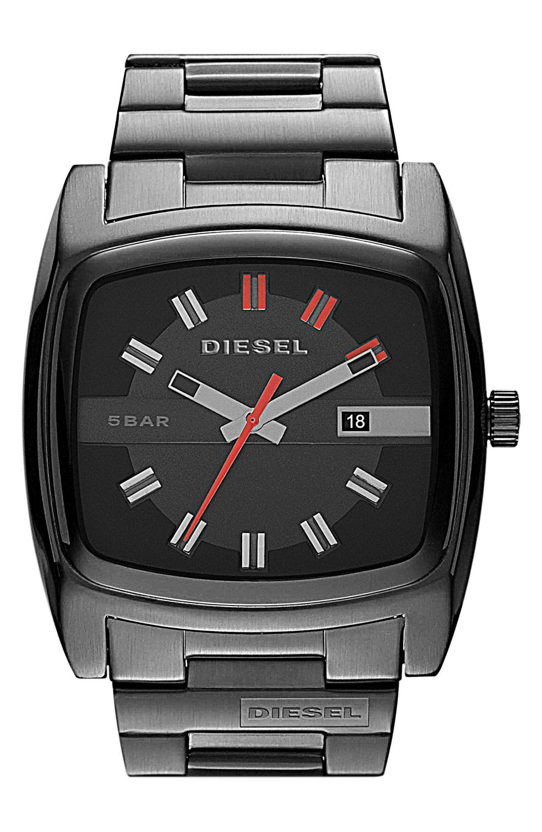 Alternate Image 1 Selected - DIESEL® 'Mr. Red' Bracelet Watch, 53mm x 47mm