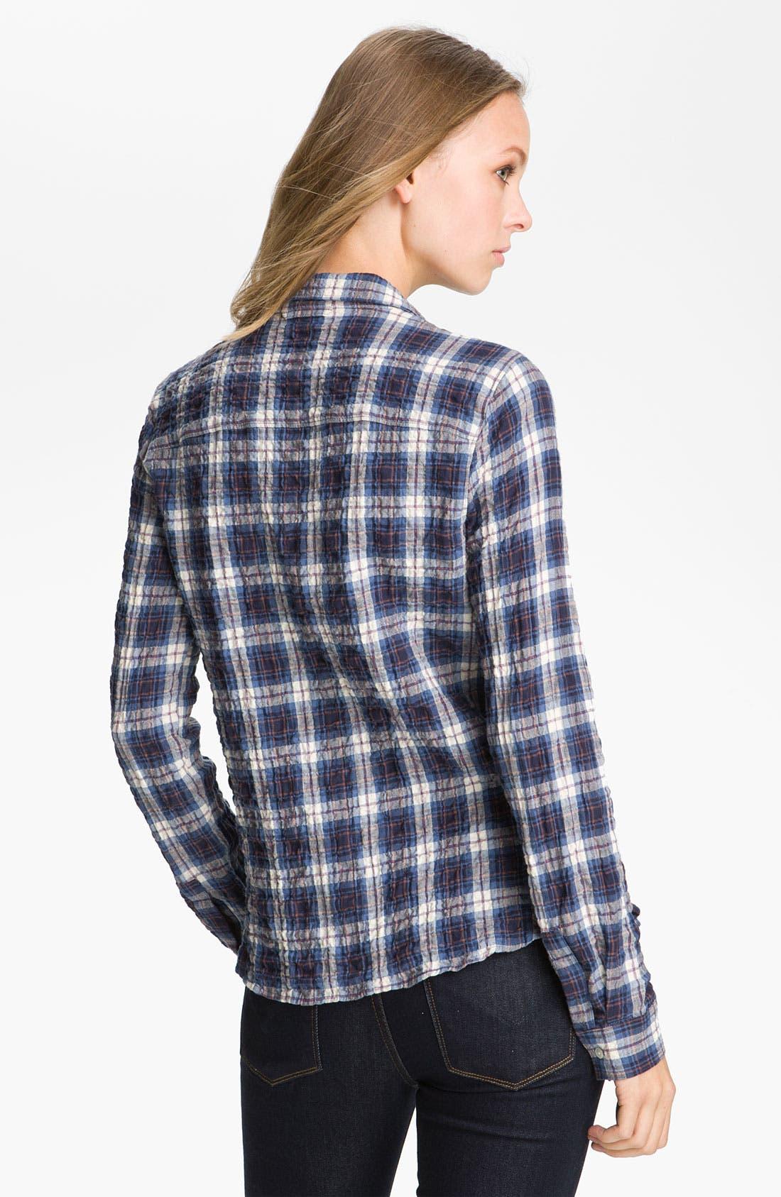 Alternate Image 2  - James Perse 'Tomboy' Crinkle Plaid Shirt