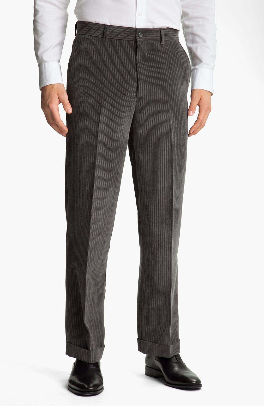 Main Image - Linea Naturale 'Striped Micro-Aire' Corduroy Trousers