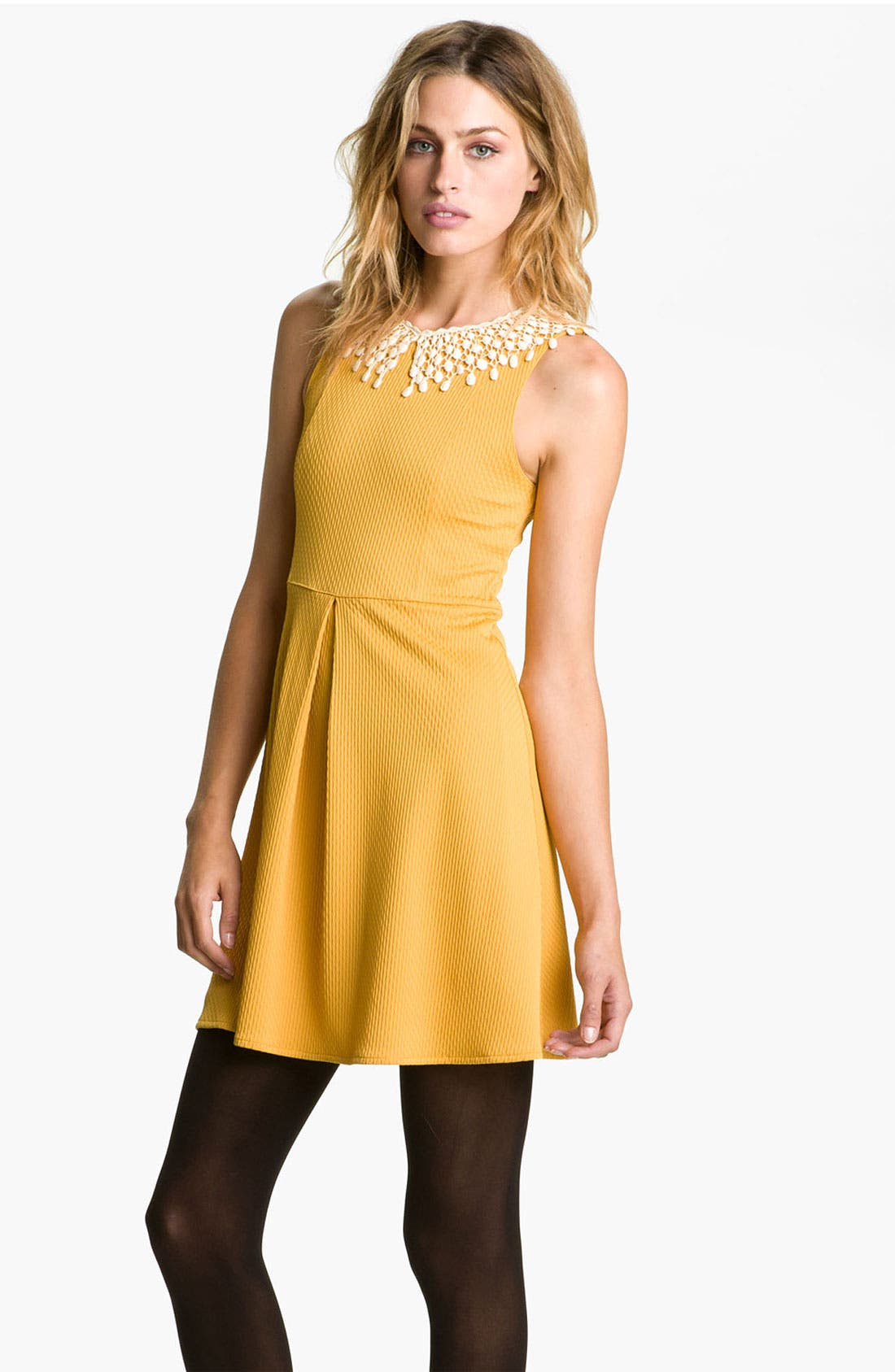 Main Image - Free People Lace Collar Cutout Dress
