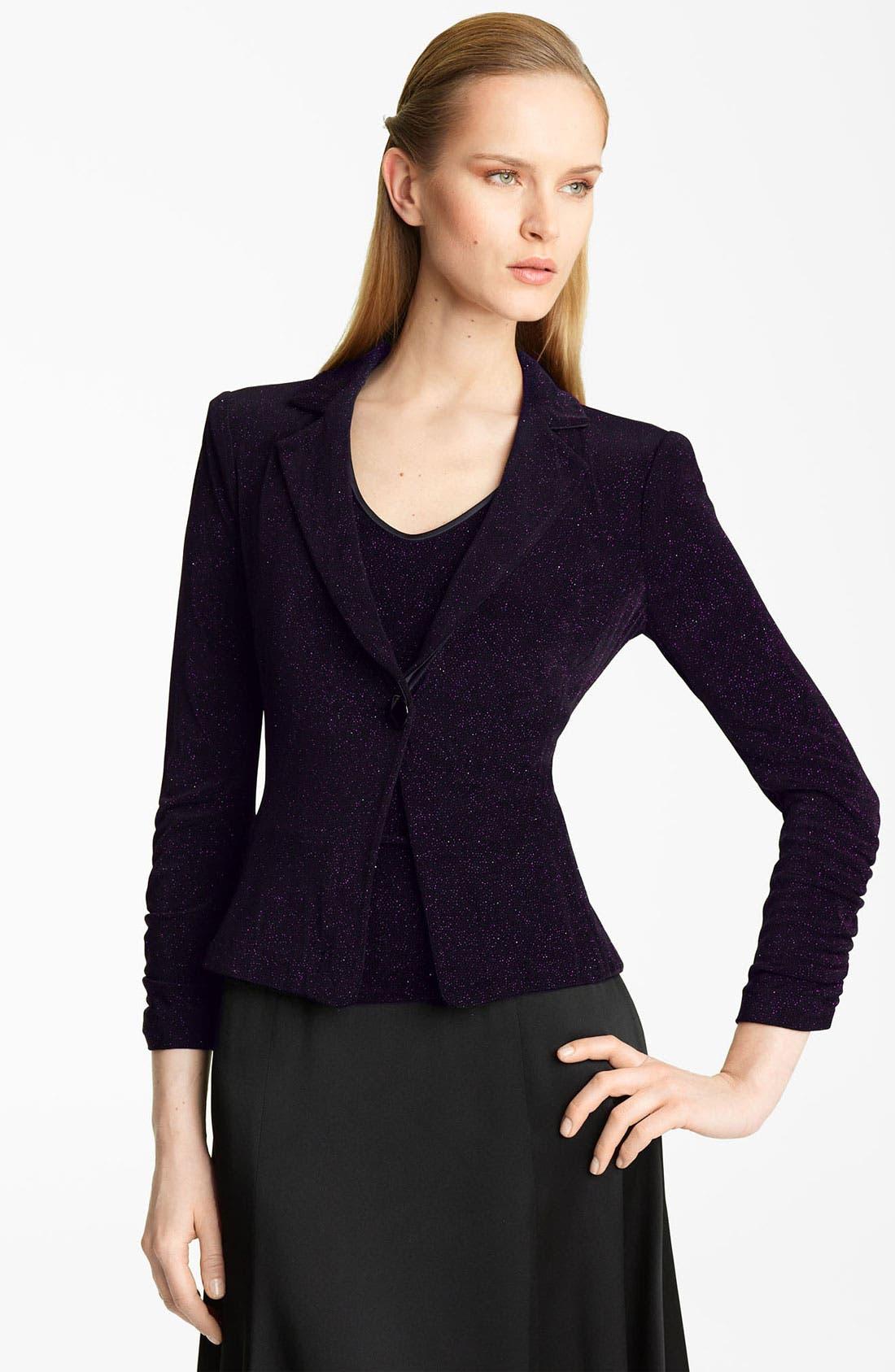 Main Image - Armani Collezioni Glitter Jersey Jacket