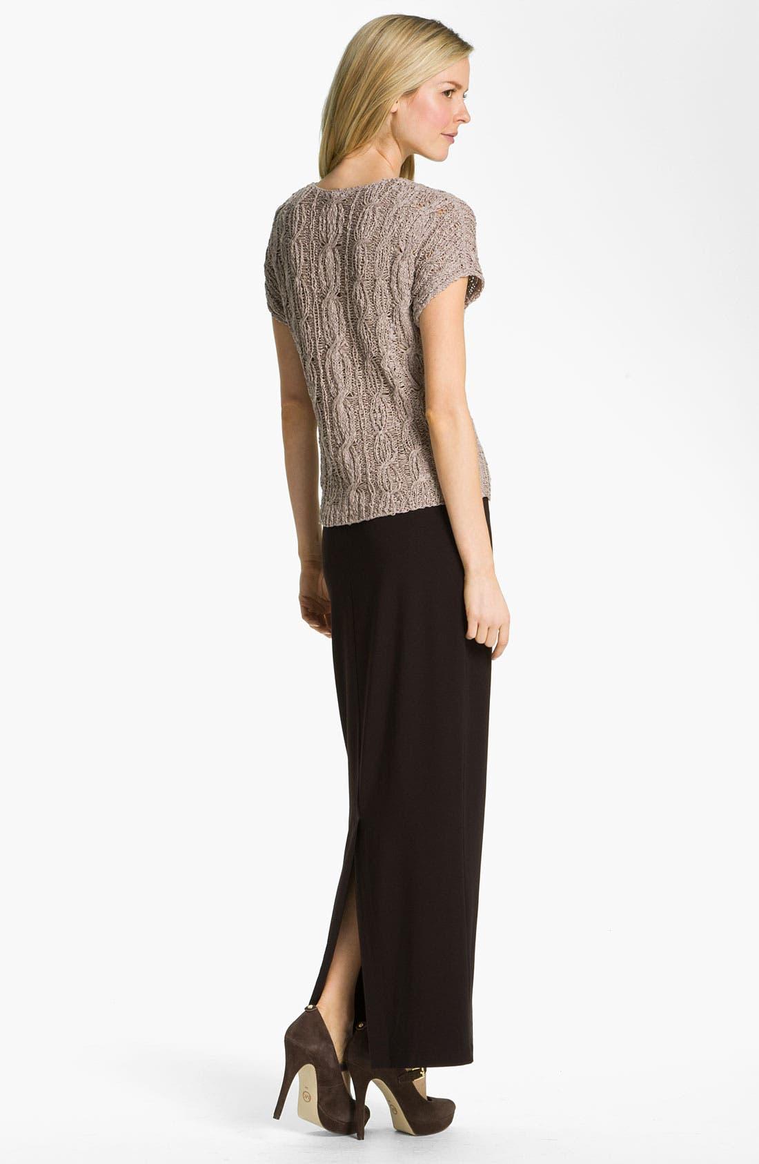 Alternate Image 4  - Eileen Fisher Fold Over Slim Maxi Skirt