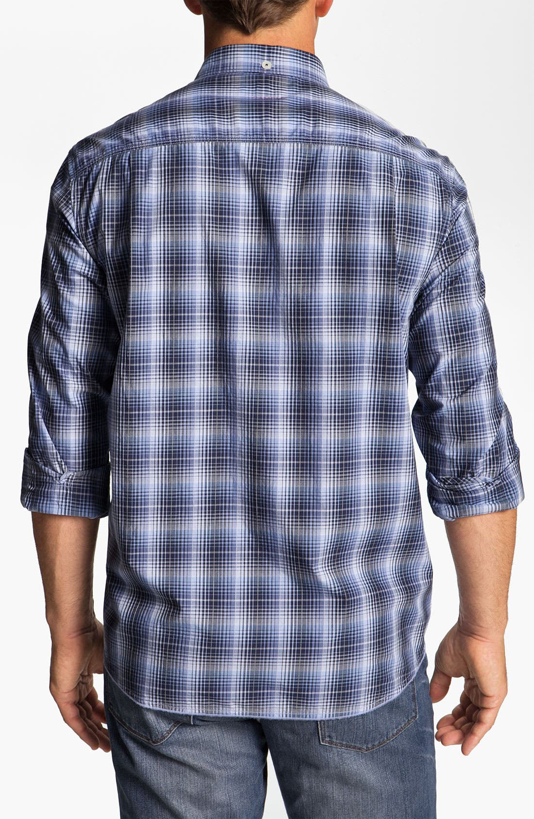 Alternate Image 2  - Tommy Bahama Denim 'Phan-Tastic Plaid' Sport Shirt