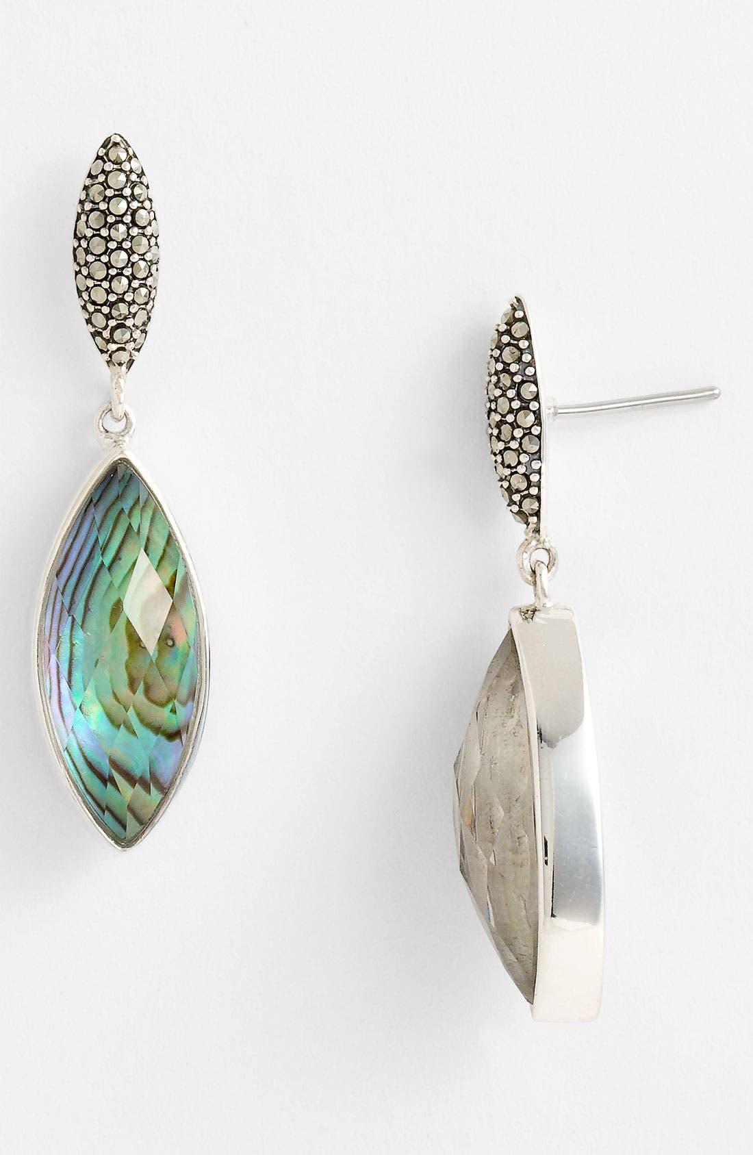 Alternate Image 1 Selected - Judith Jack Abalone Doublet Drop Earrings