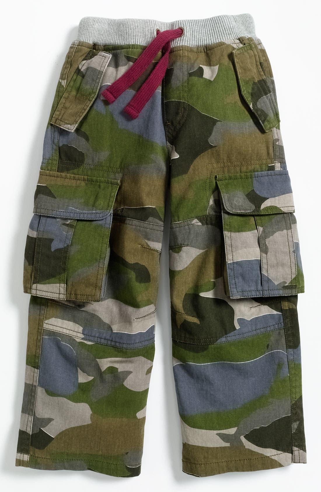 Main Image - Mini Boden Ribbed Waist Cargo Pants (Little Boys & Big Boys)