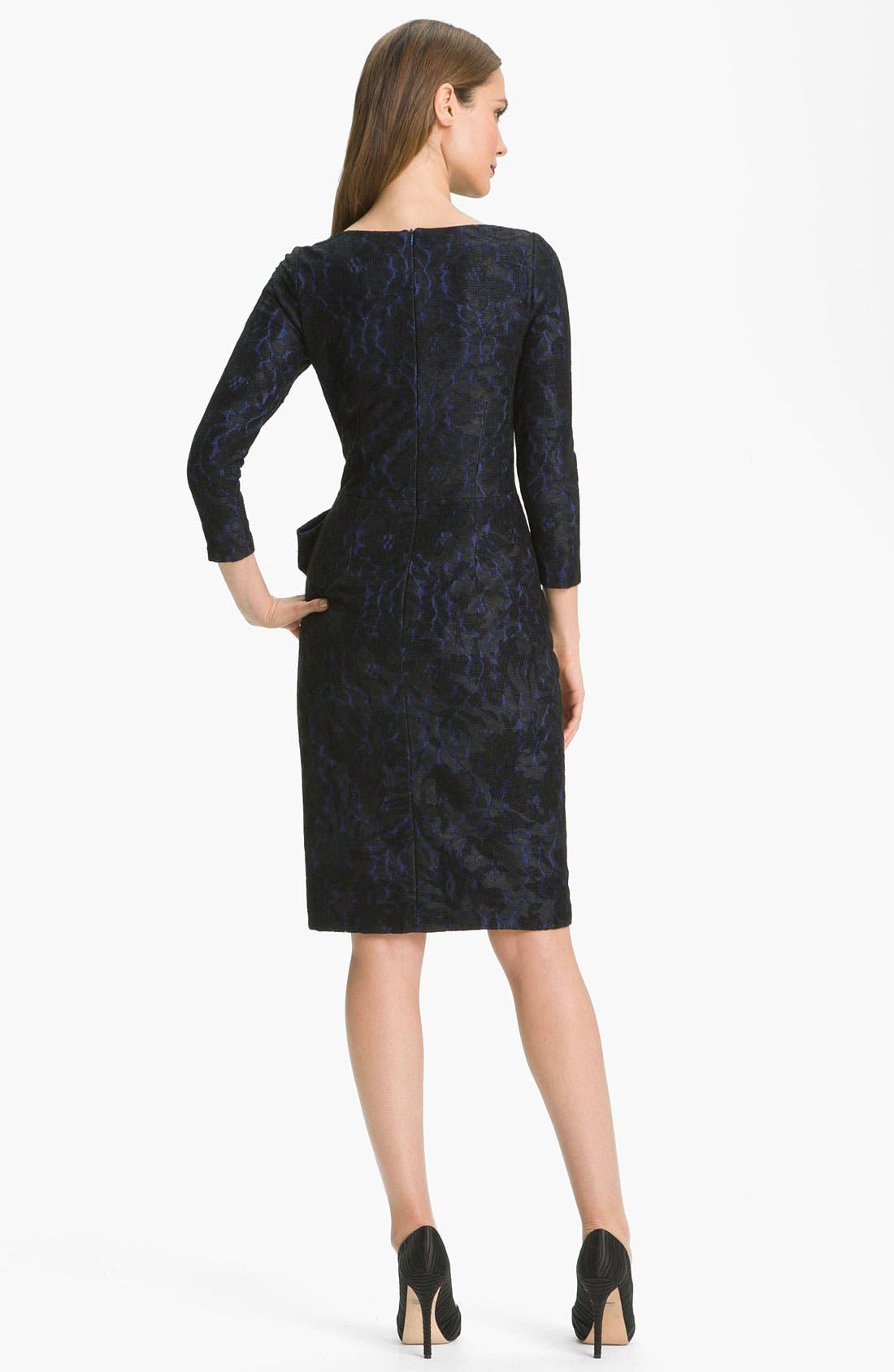 Alternate Image 2  - David Meister Textured Bow Detail Sheath Dress