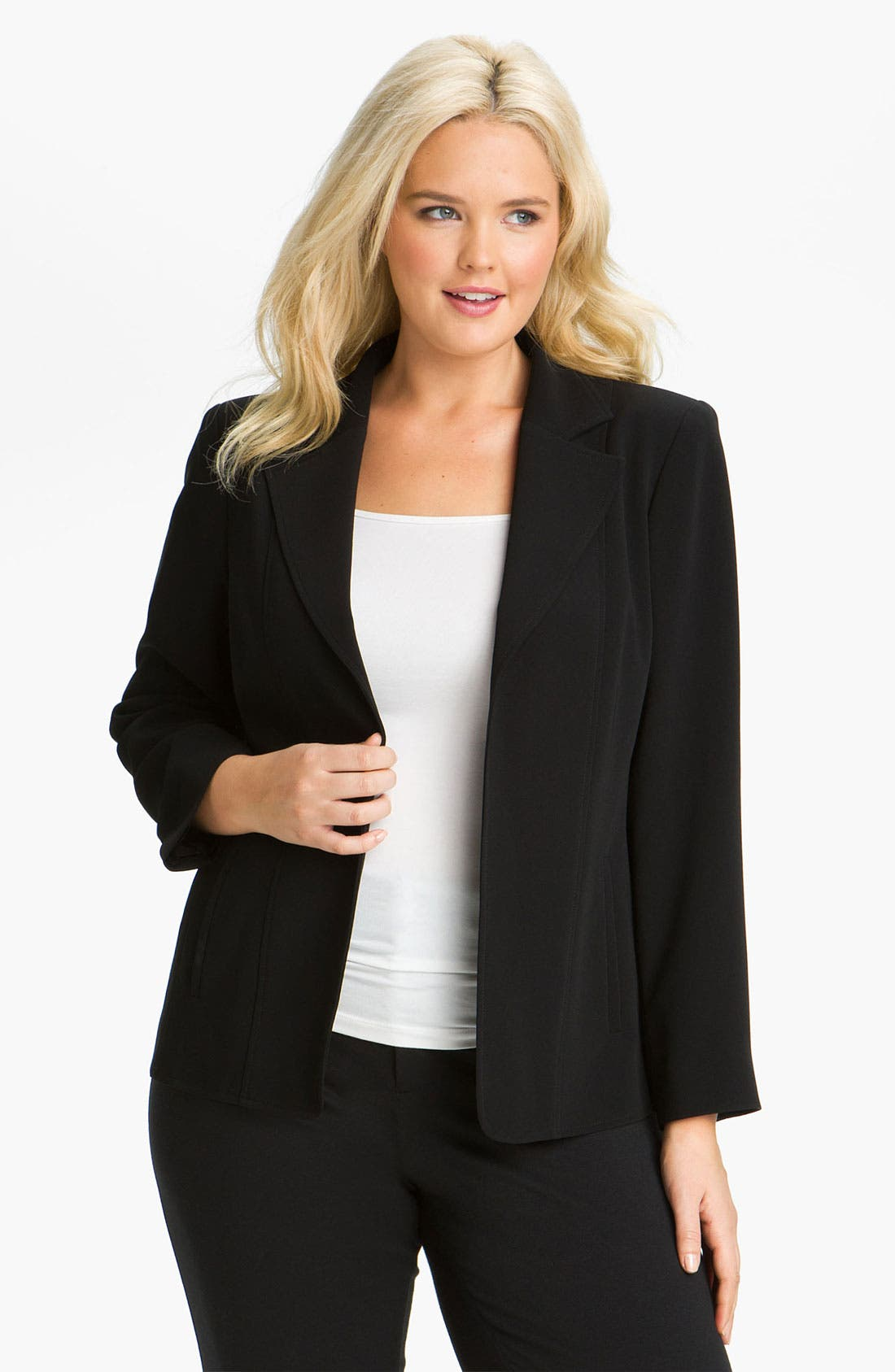 Alternate Image 1 Selected - Louben Seamed Jacket (Plus Size)
