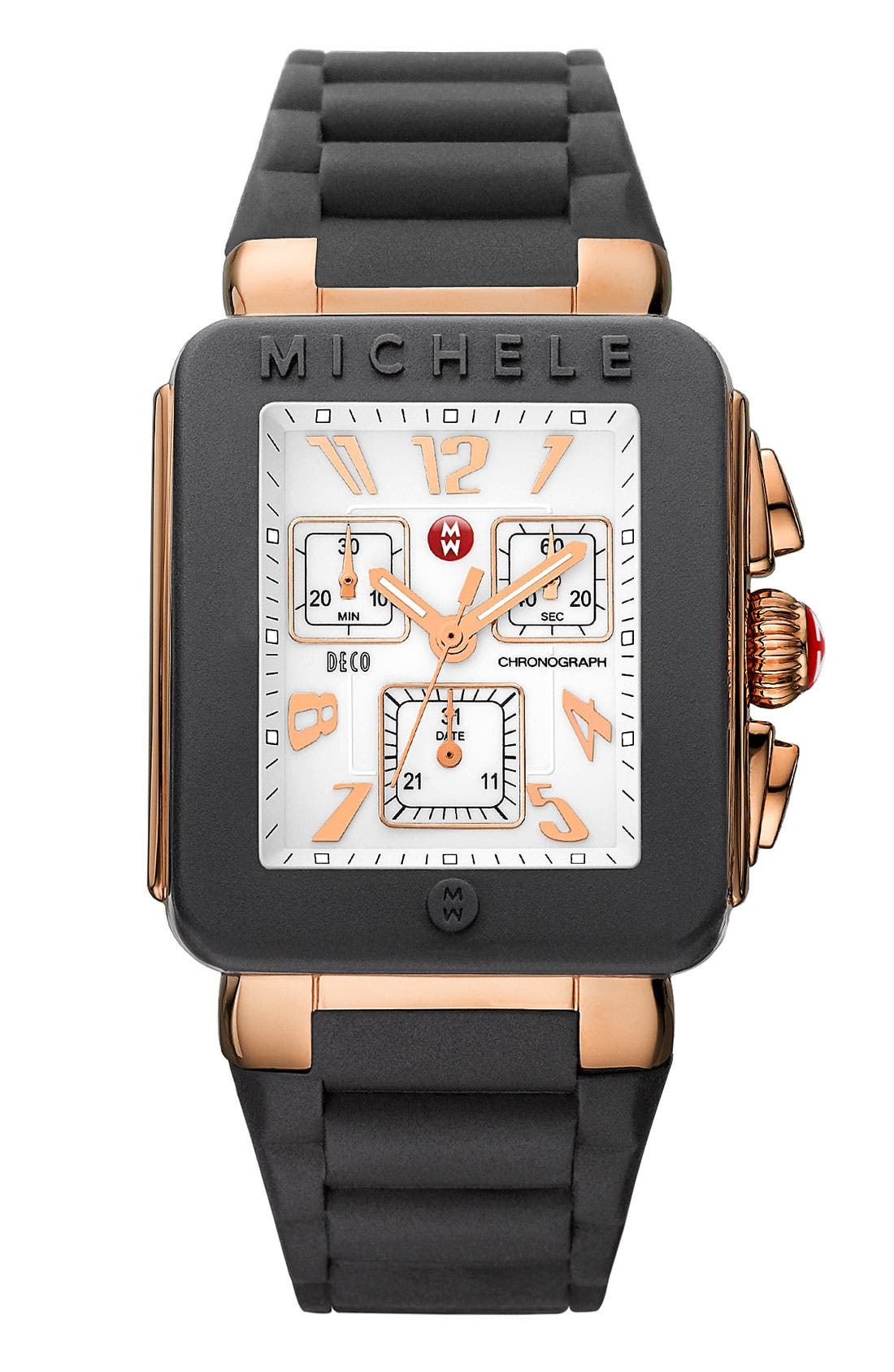 Alternate Image 1 Selected - MICHELE 'Park Jelly Bean' Rose Gold Watch