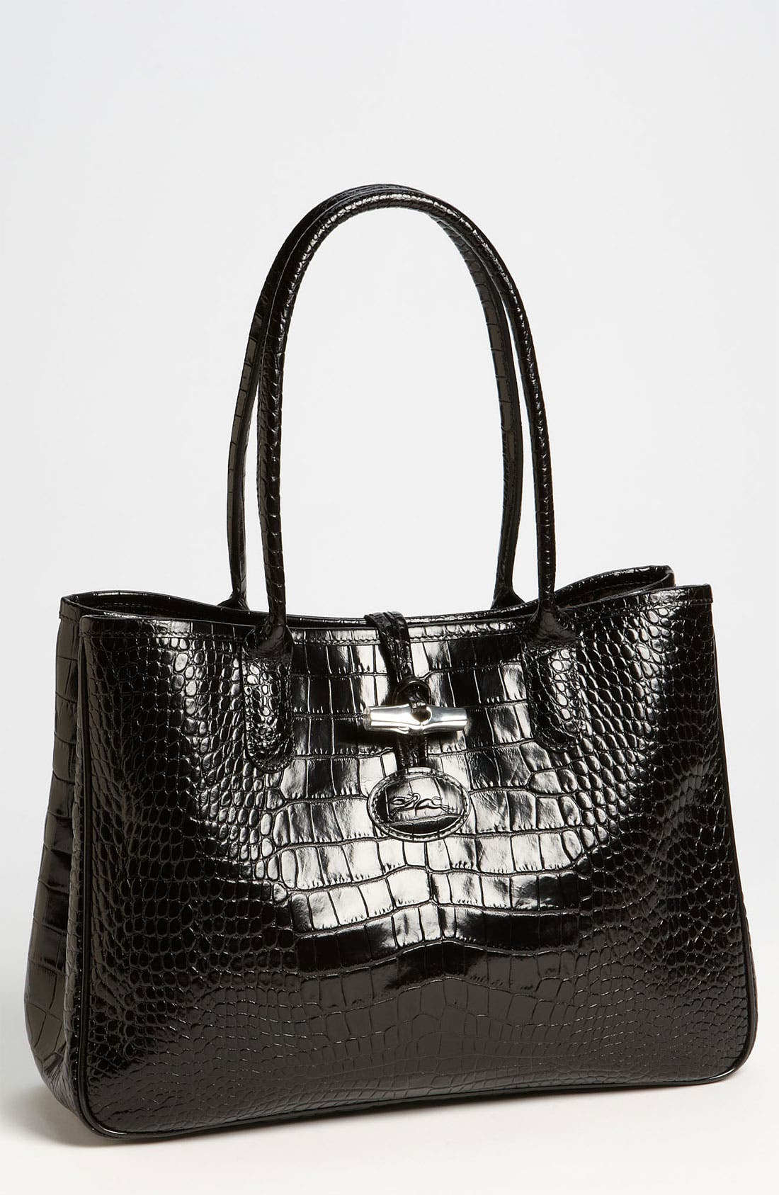 Alternate Image 1 Selected - Longchamp 'Roseau Croco' Shoulder Tote