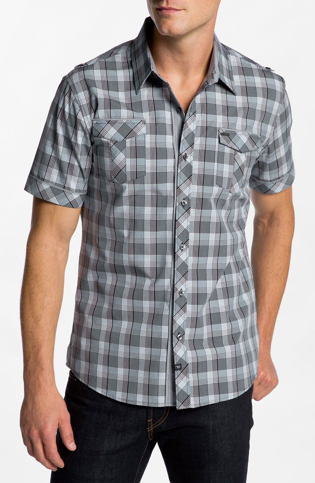 Alternate Image 1 Selected - 7 Diamonds 'Wave Speech' Woven Shirt