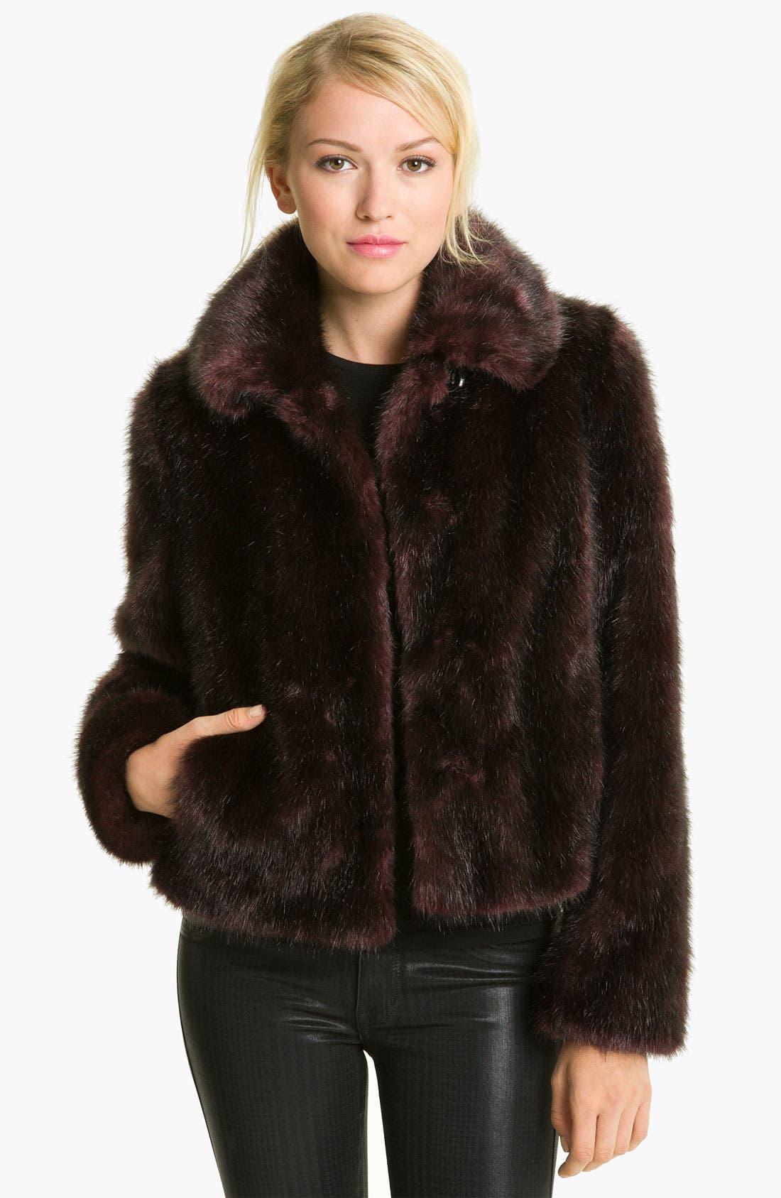 Main Image - Gallery Faux Fox Fur Jacket