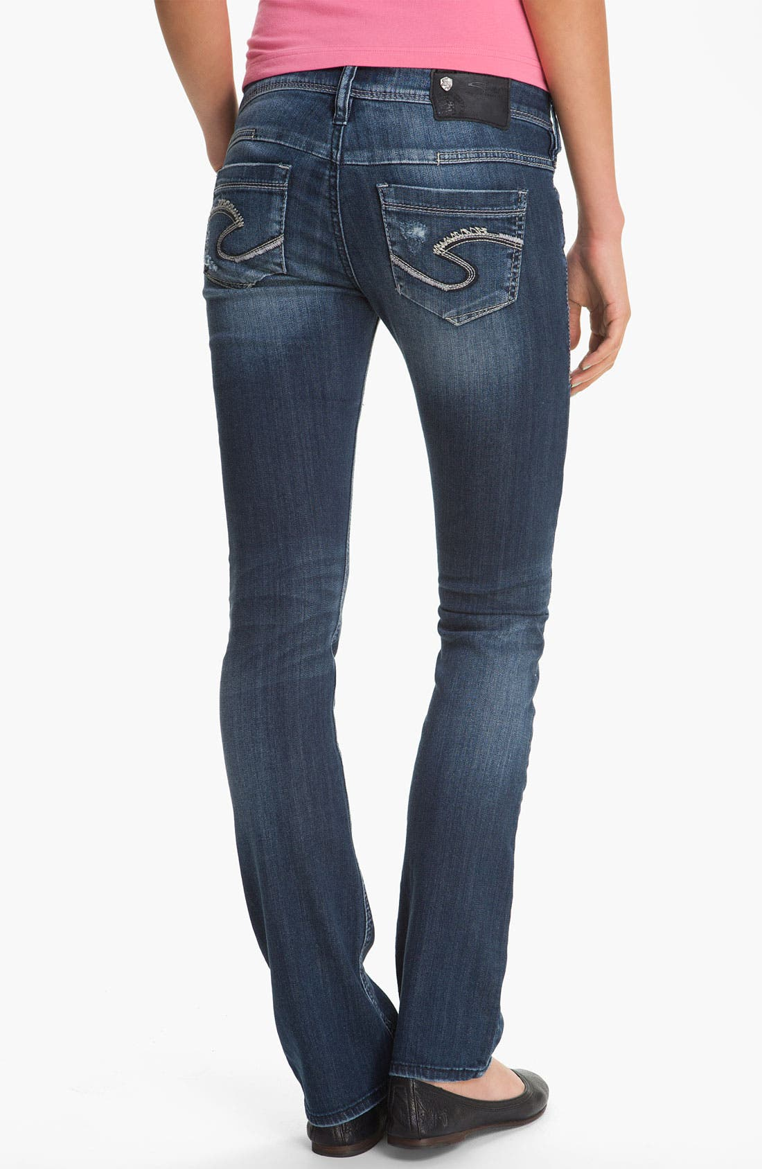 Alternate Image 1 Selected - Silver Jeans Co. 'Manchester' Straight Leg Jeans (Juniors)