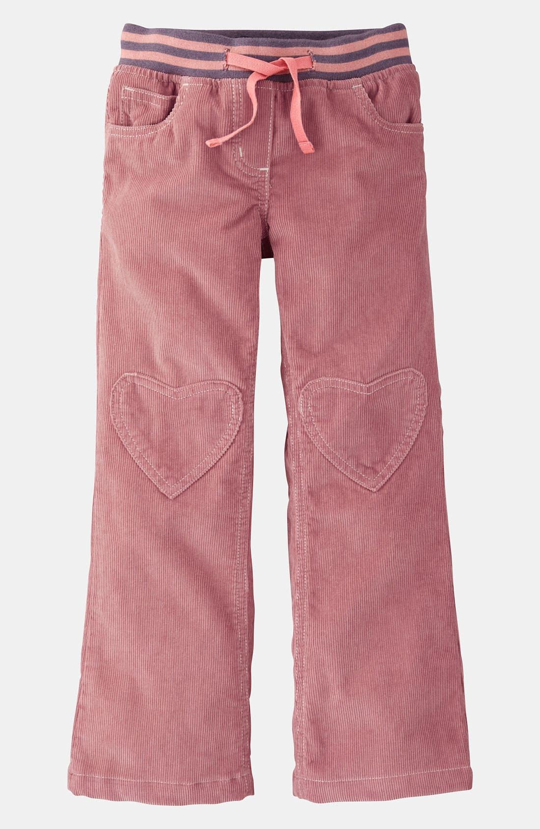 Alternate Image 1 Selected - Mini Boden Heart Patch Pants (Toddler, Little Girls & Big Girls)