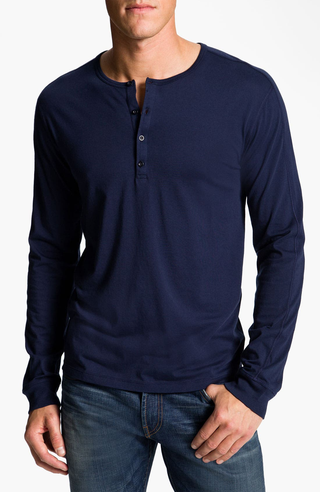 Alternate Image 1 Selected - Vince Pima Cotton Jersey Henley