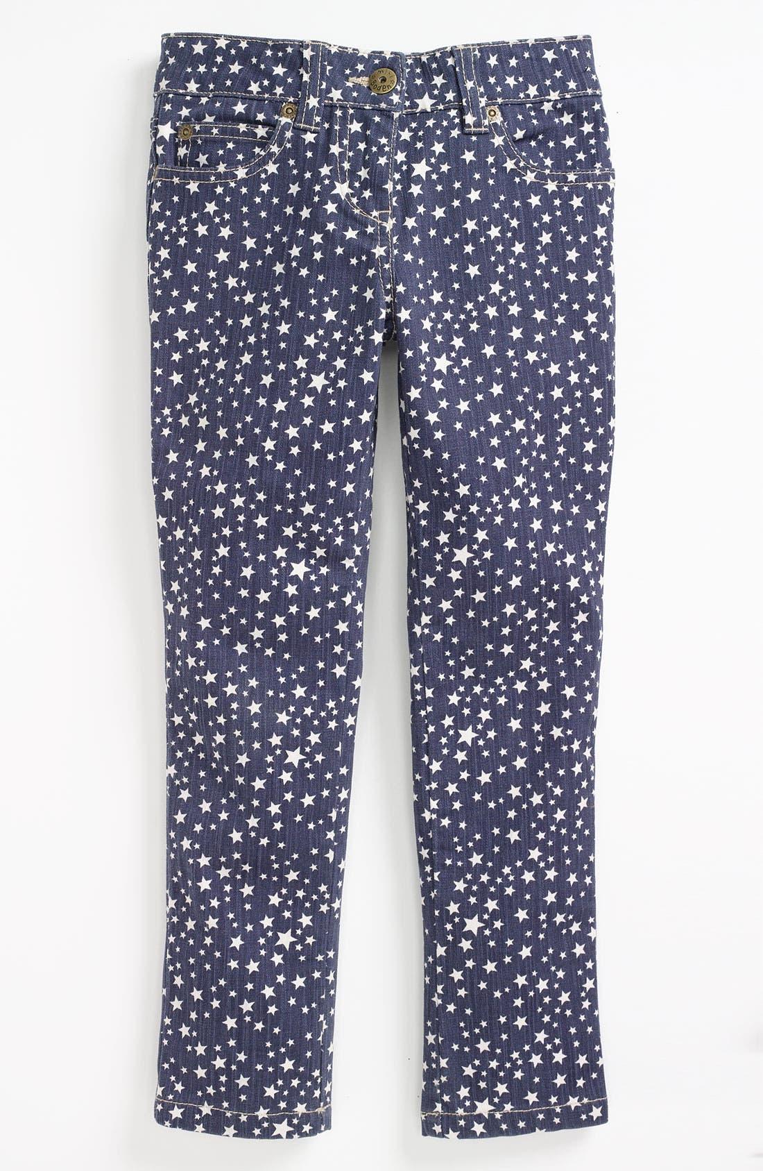 Alternate Image 2  - Mini Boden Print Jeans (Toddler)
