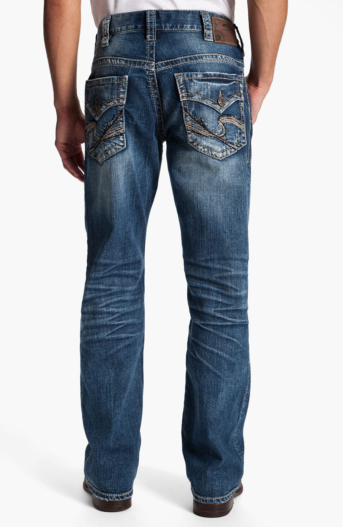 Main Image - Silver Jeans Co. 'Gordie' Relaxed Straight Leg Jeans