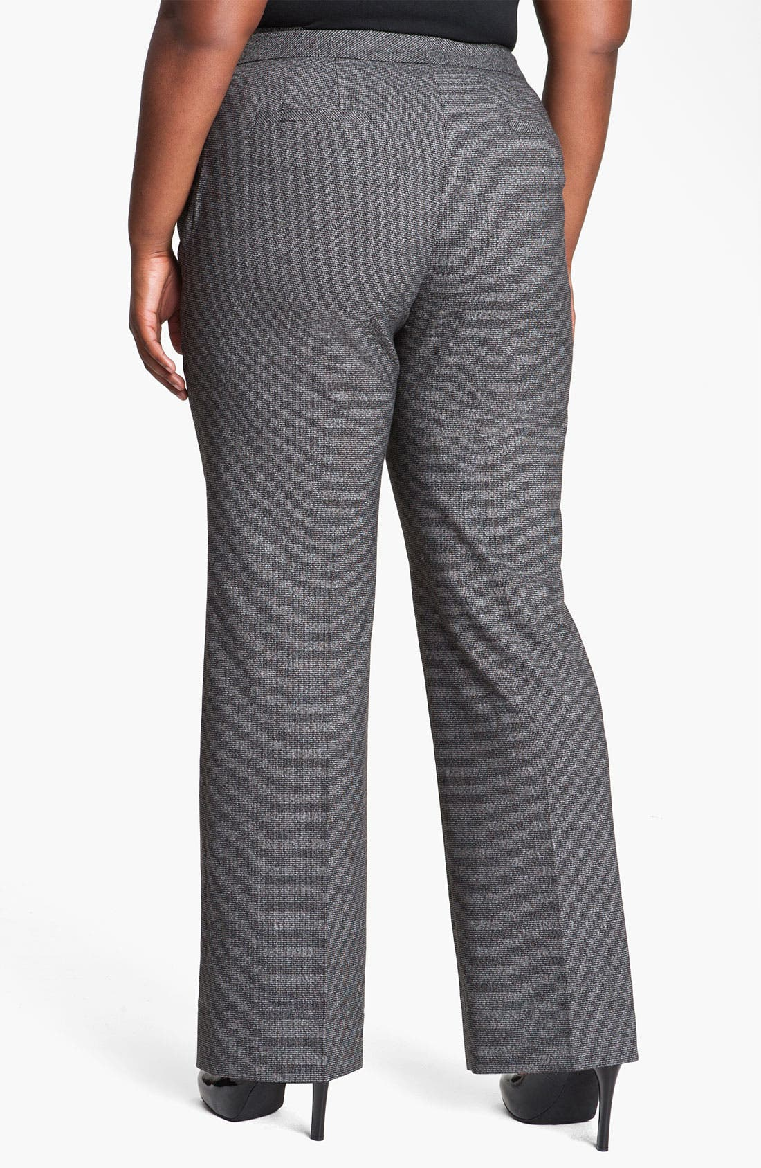 Alternate Image 2  - Sejour Herringbone Suit Trousers (Plus)