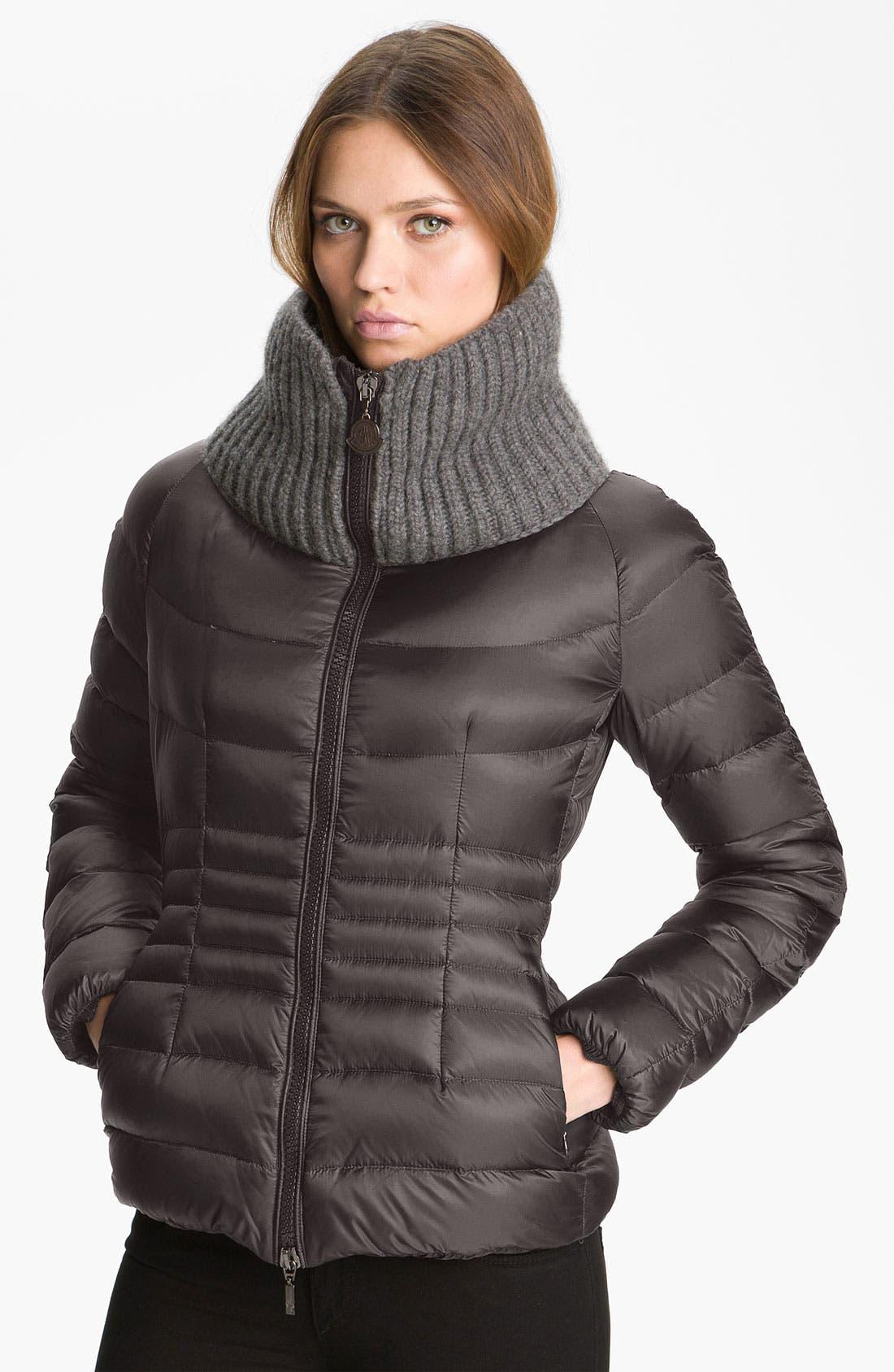 Alternate Image 1 Selected - Moncler 'Peliade' Knit Collar Down Jacket