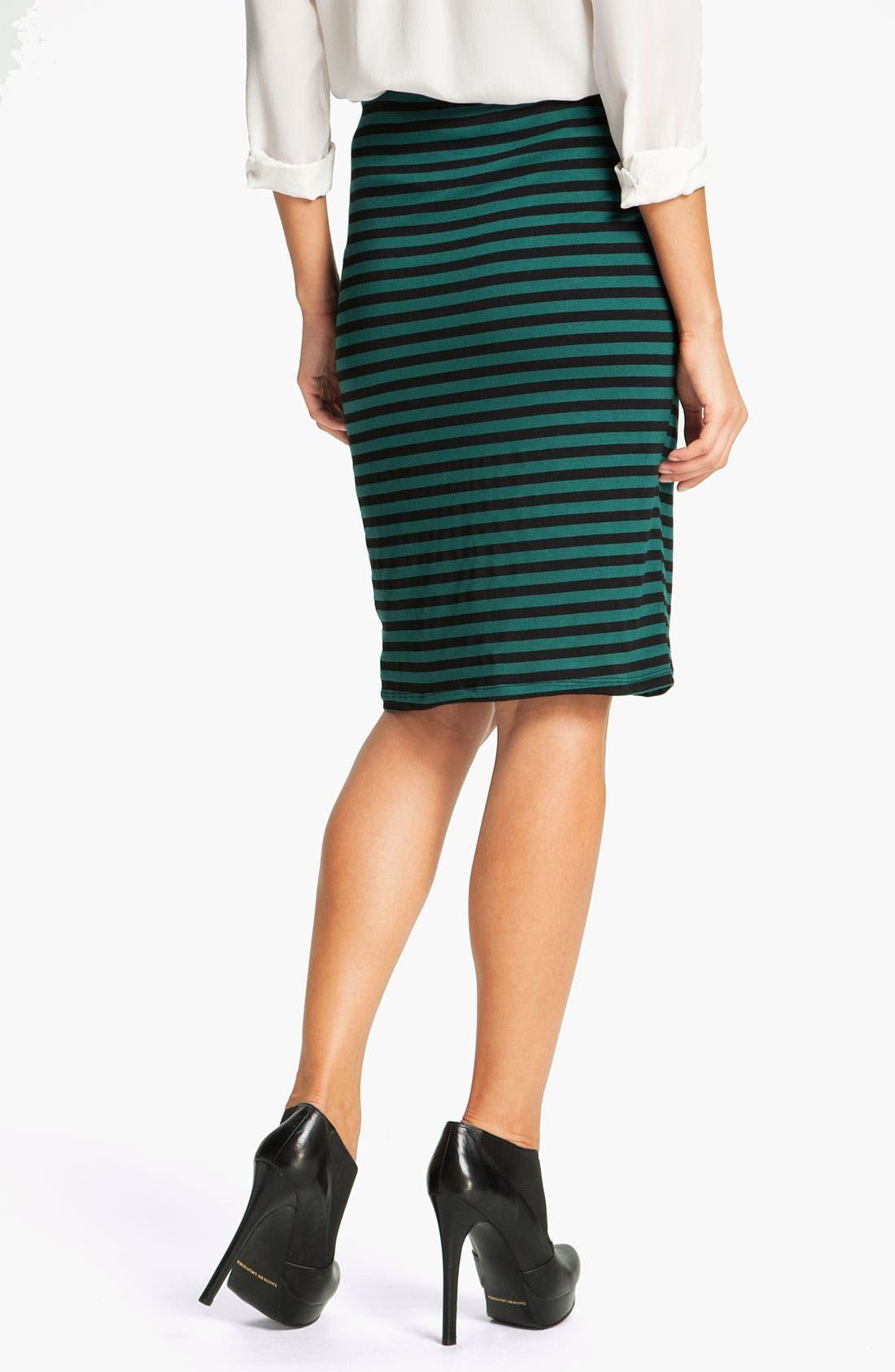 Alternate Image 2  - Bobeau Stripe Drawstring Skirt