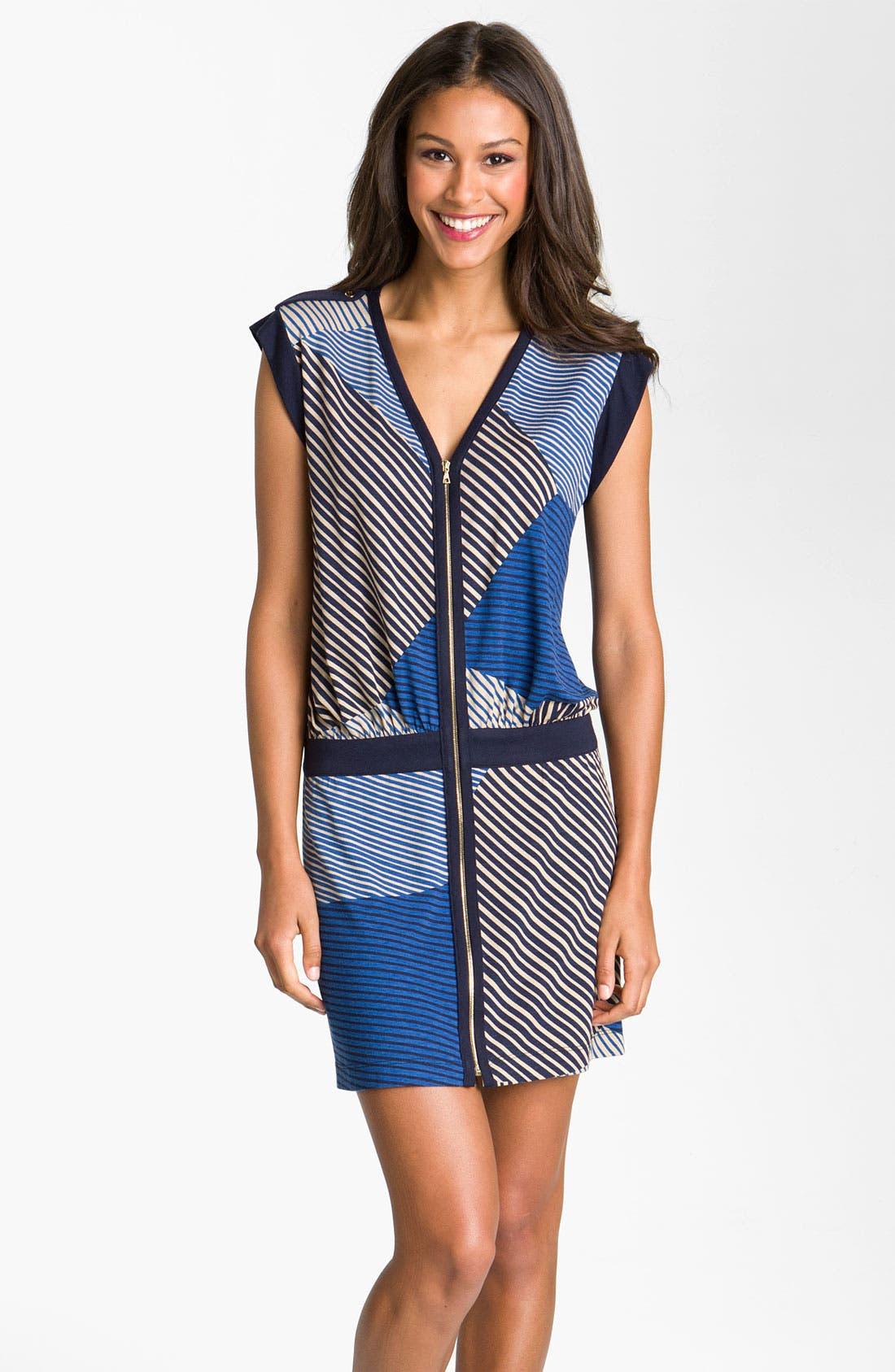 Main Image - Julie Dillon Front Zip Drop Waist Dress