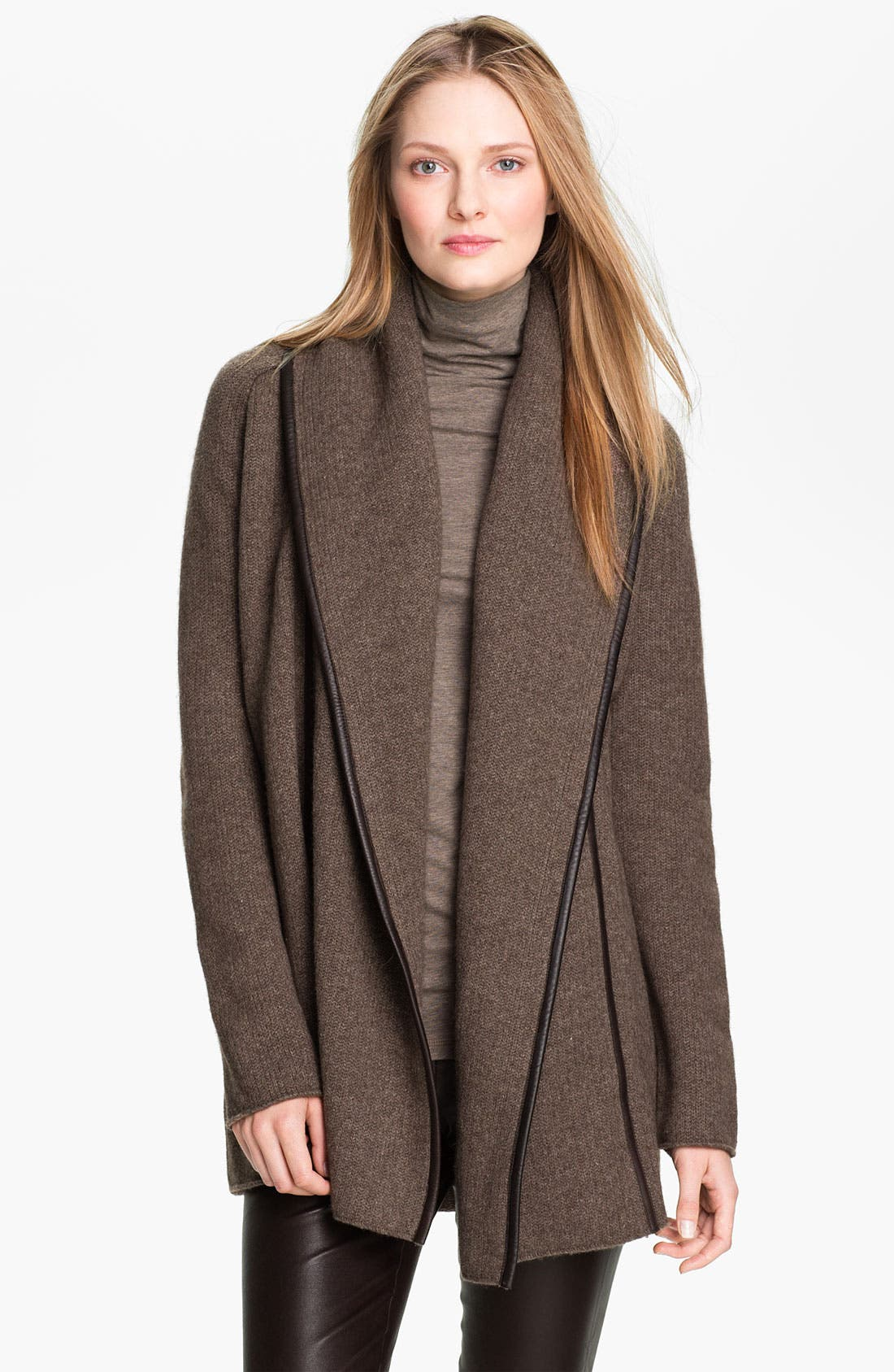 Main Image - Vince Leather Trim Coat