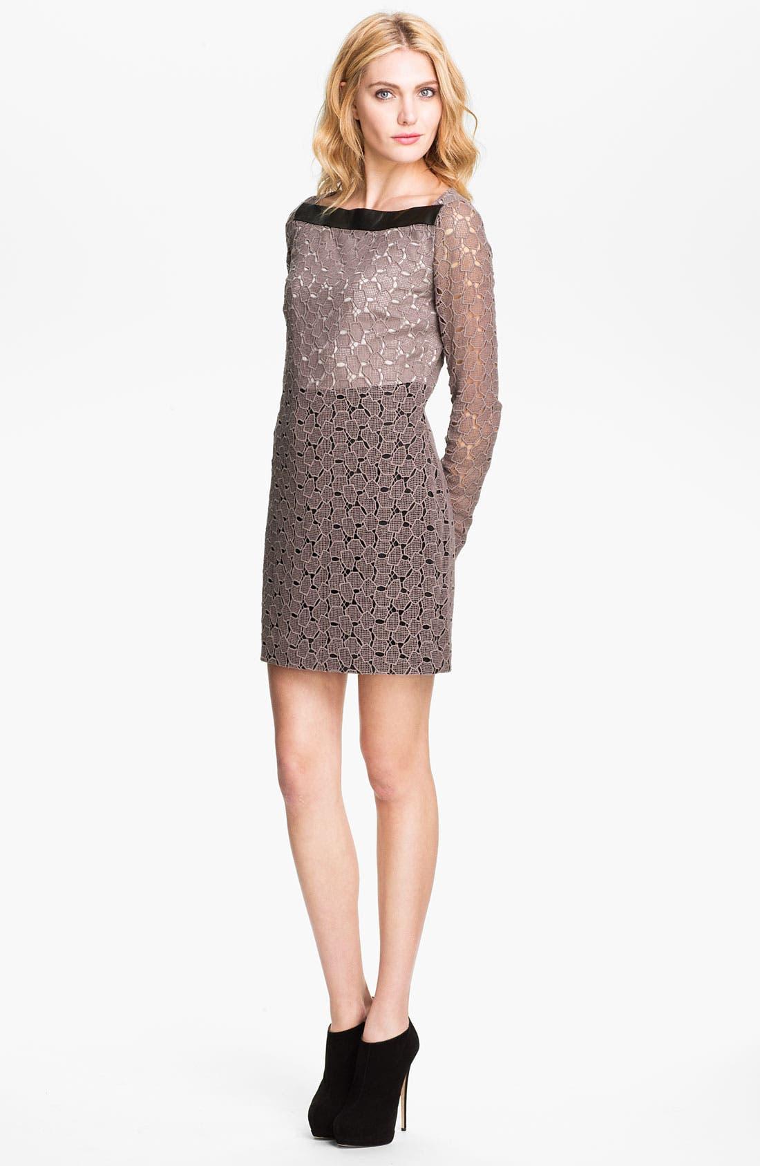 Main Image - Diane von Furstenberg 'New Sarita Pebble' Lace Shift Dress
