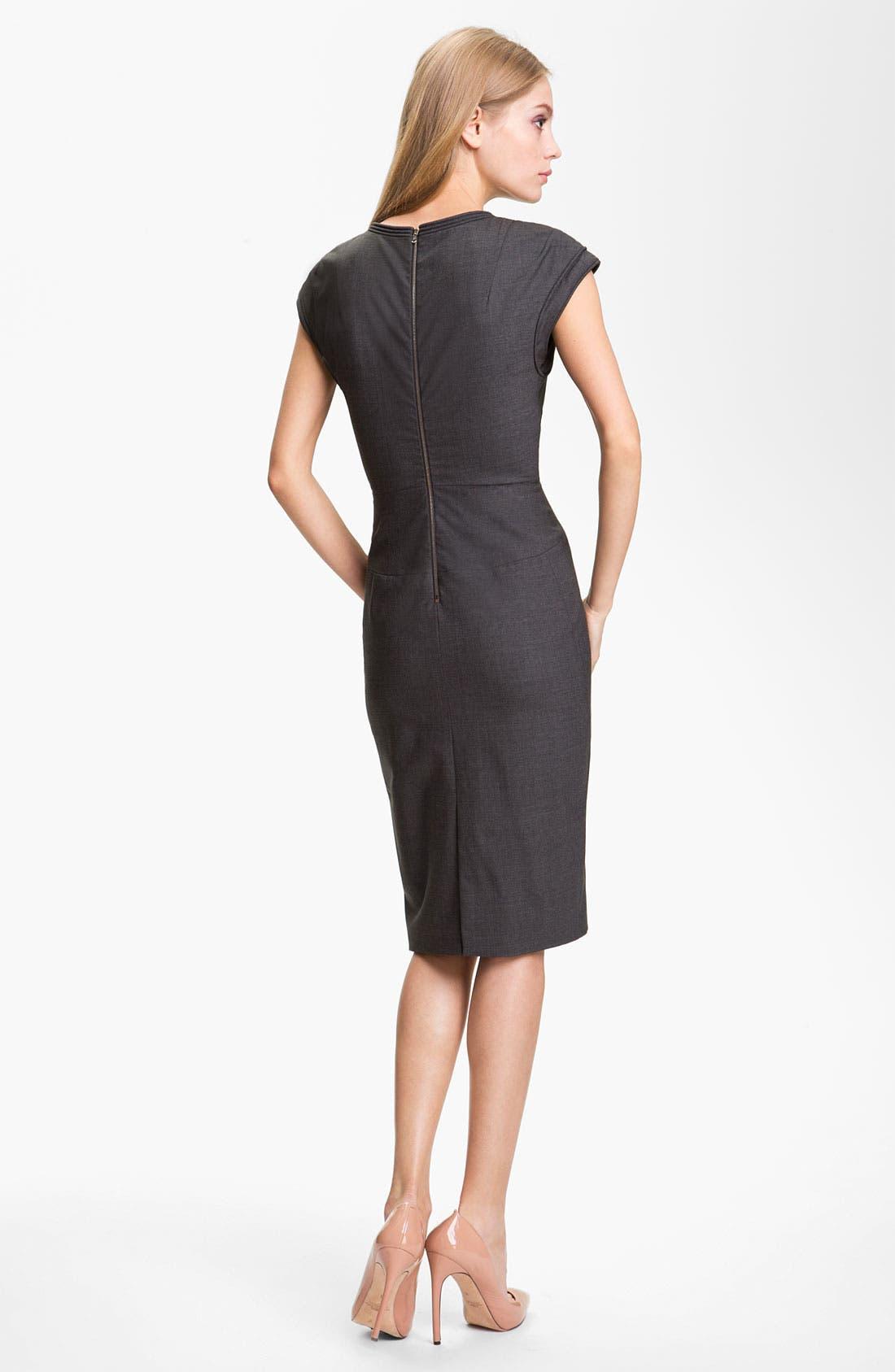 Alternate Image 2  - Rachel Roy 'Cord' Tropical Wool Sheath Dress