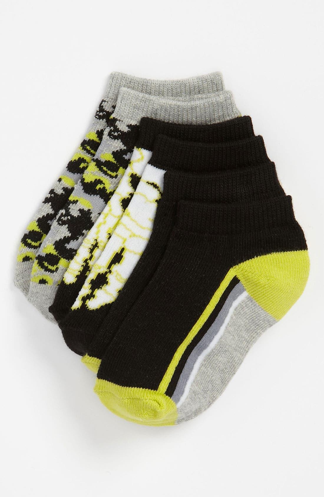 Alternate Image 1 Selected - Nordstrom 'Crossbones' Socks (3-Pack) (Toddler, Little Boys & Big Boys)