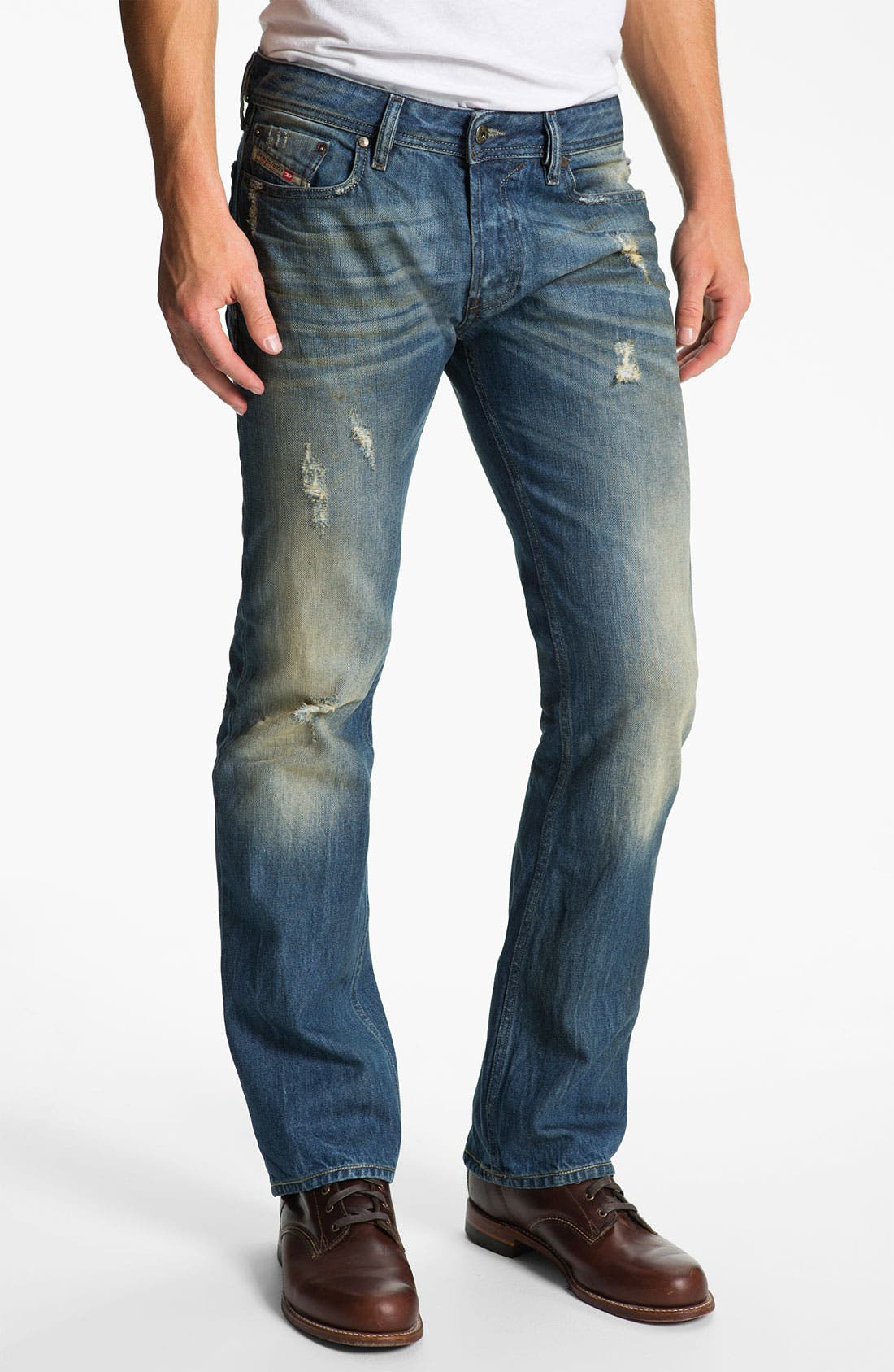 Alternate Image 2  - DIESEL® 'New Fanker' Slim Bootcut Jeans (0075I)