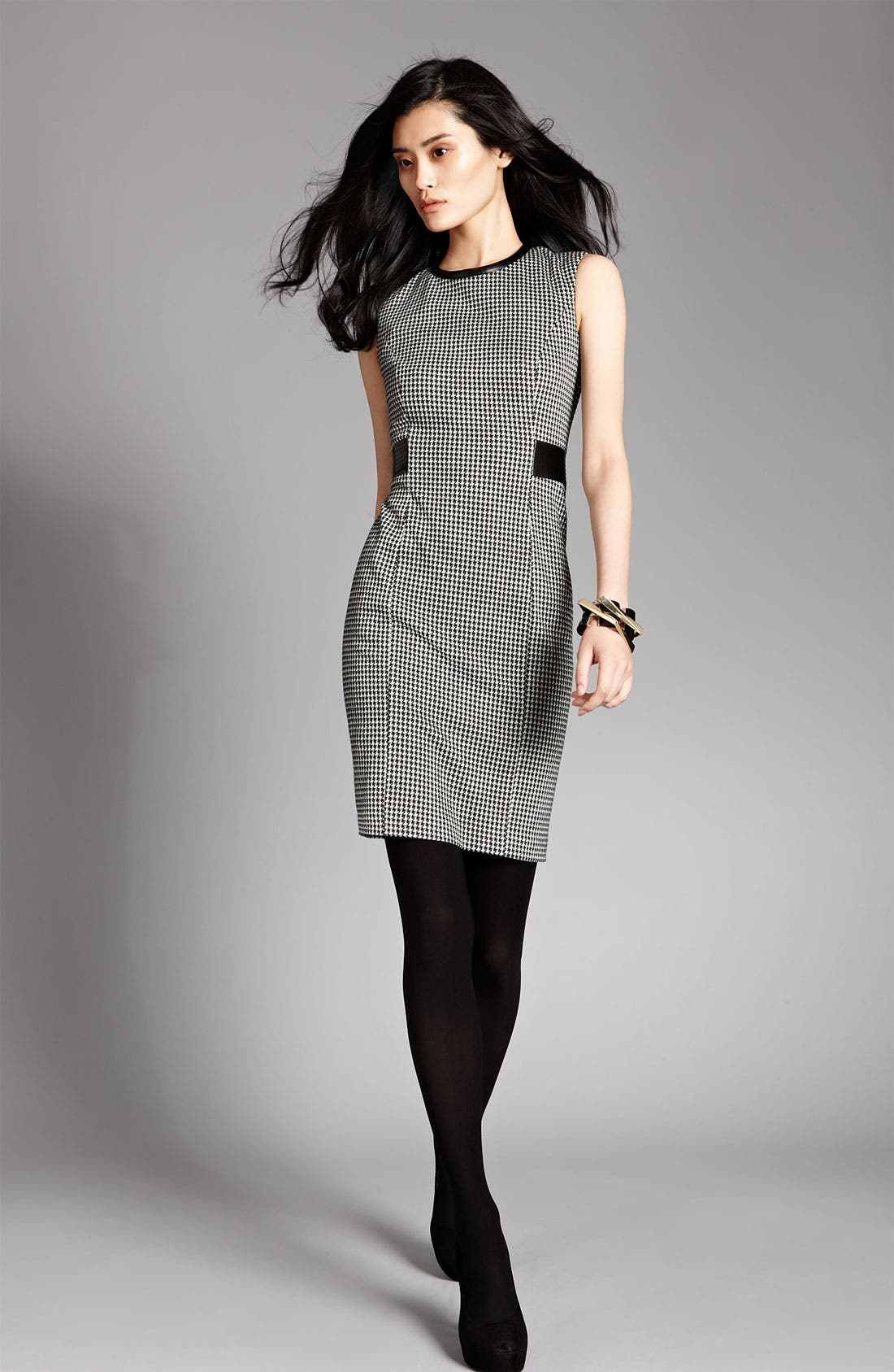 Alternate Image 3  - Calvin Klein Sleeveless Houndstooth Sheath Dress