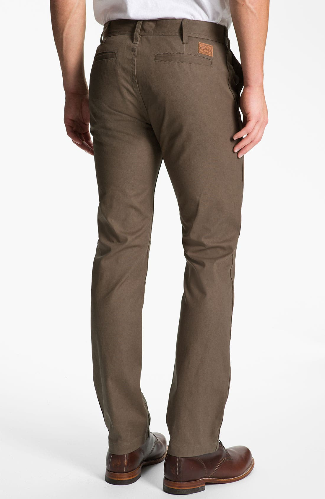 Alternate Image 2  - Obey 'Trademark' Wax Coated Chinos
