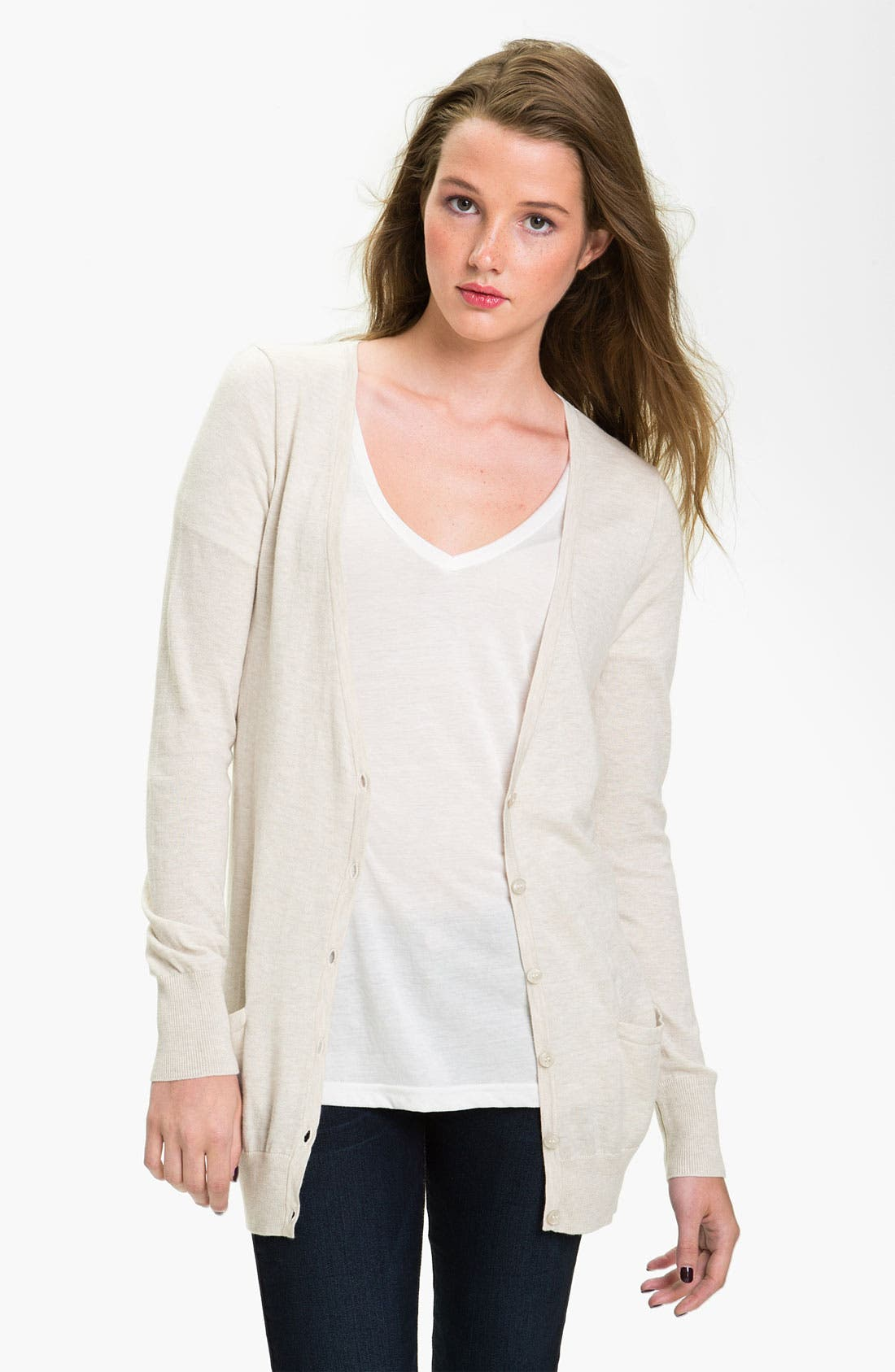 Alternate Image 1 Selected - BP. V-Neck Cardigan (Juniors)