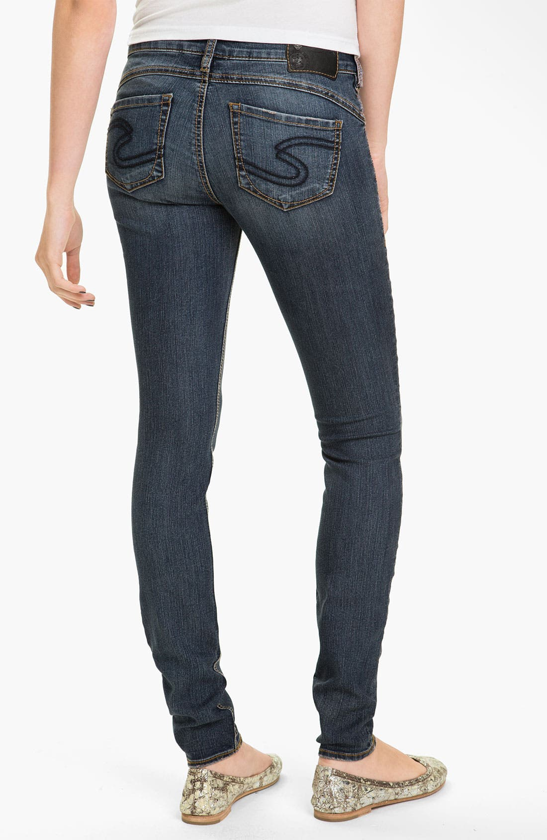 Alternate Image 1 Selected - Silver Jeans Co. 'Camden Rose' Skinny Jeans (Juniors)